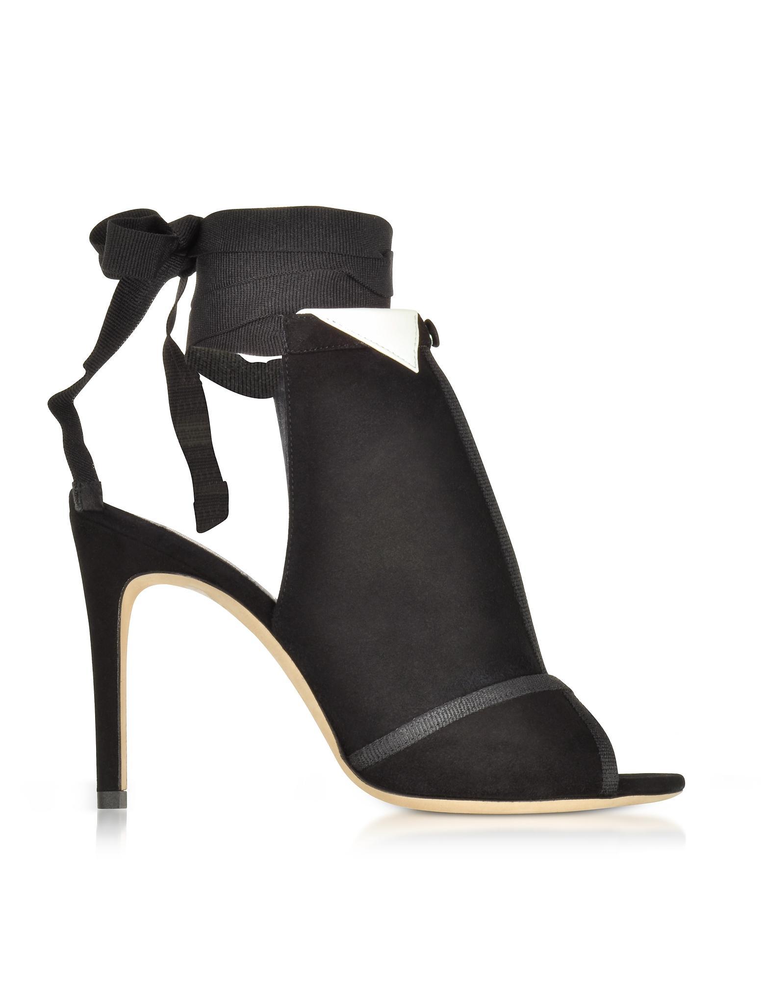 e07e84a73a9 Lyst - Olgana Paris La Jolie Black Suede High Heel Pump in Black