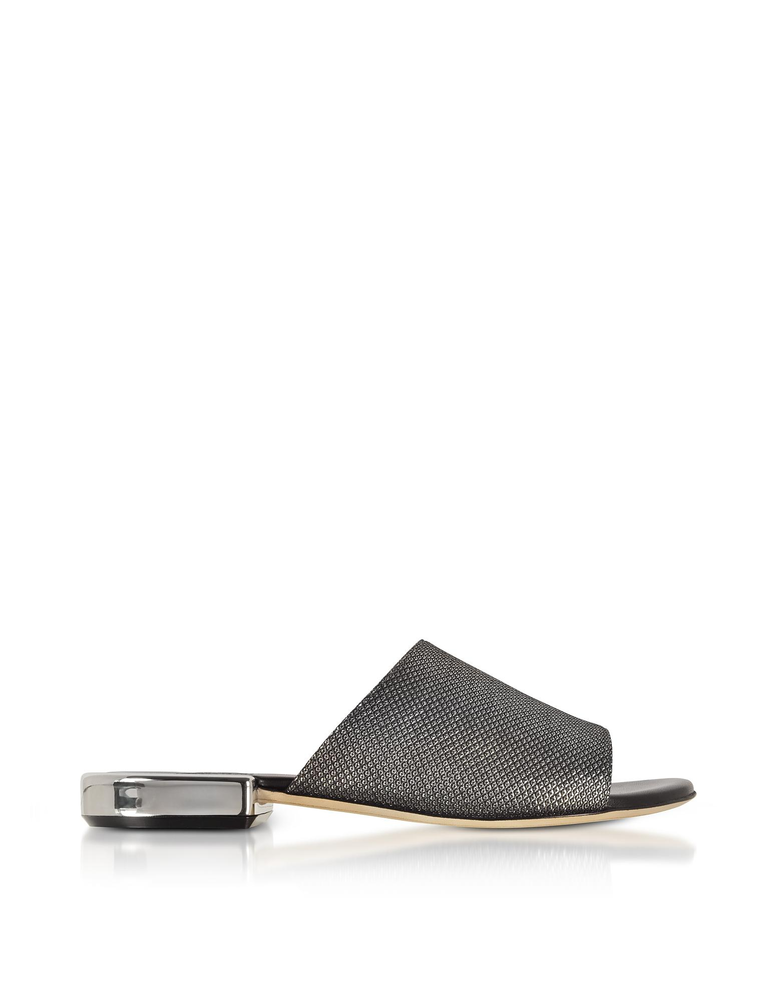 RODO Shoes, Suede and Lurex Flat Mules