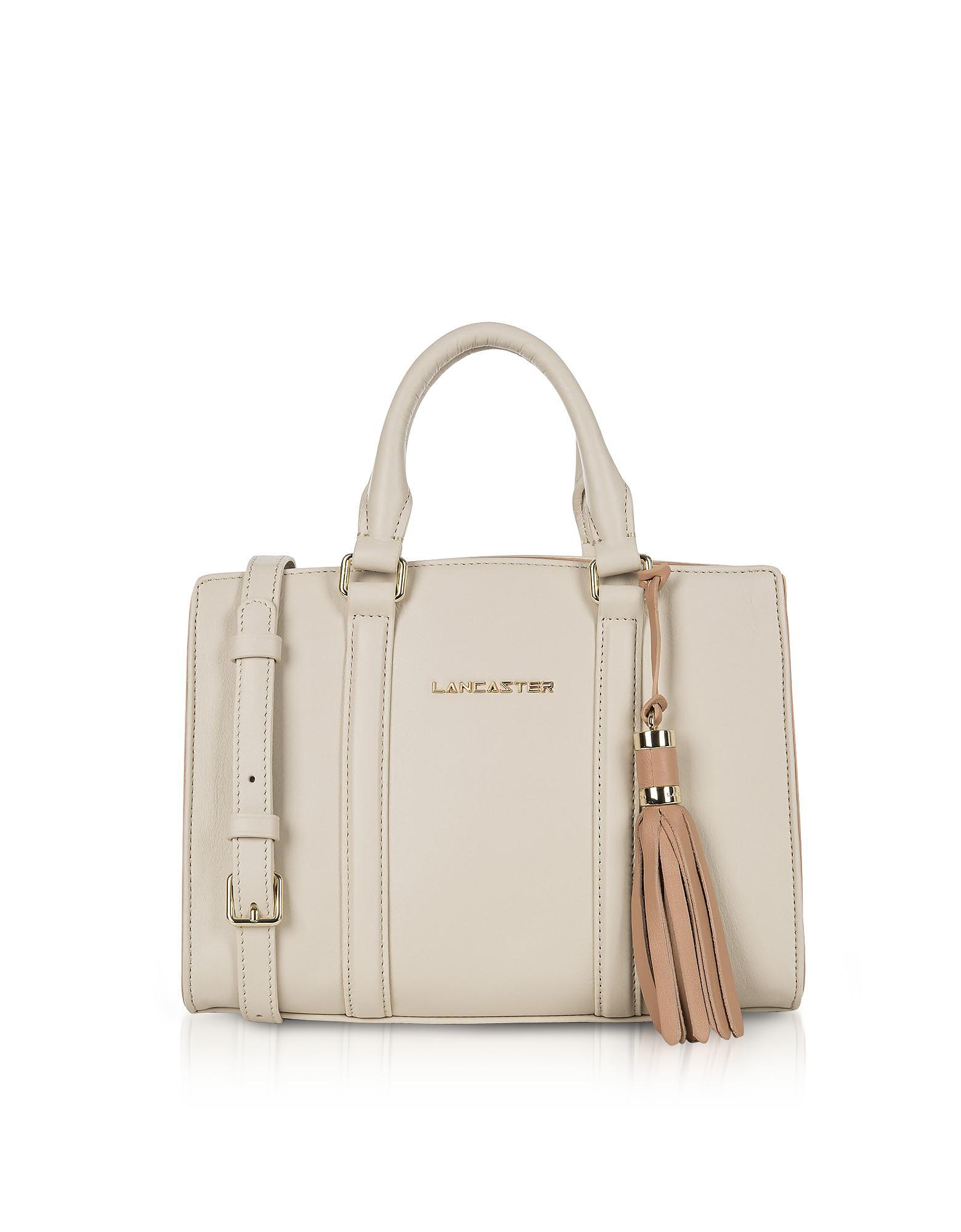 Lancaster Handbags, Mademoiselle Ana /Nude Leather Small Satchel Bag
