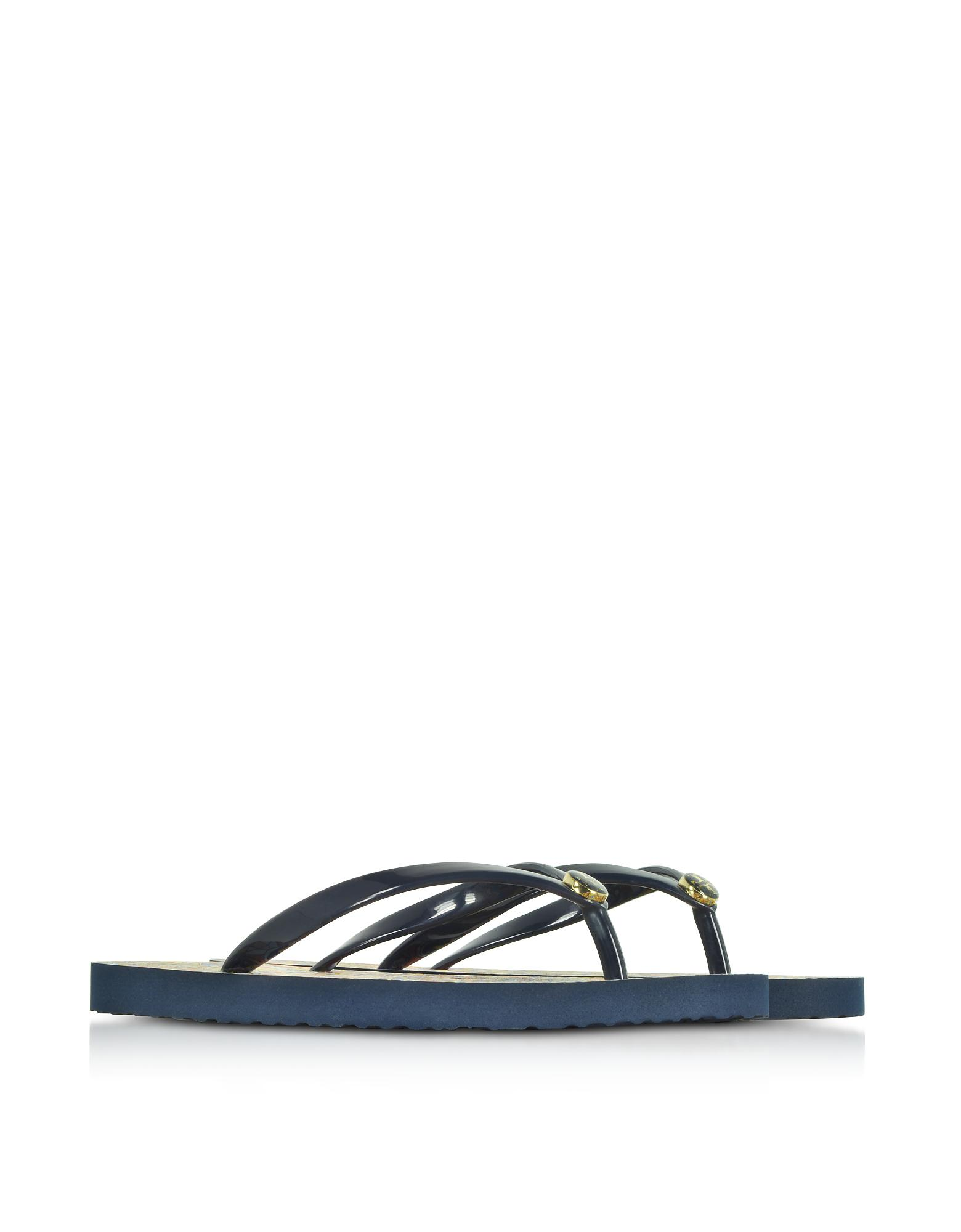42aeb7bf0d2e0 ... Tory Burch Thin Tory Navy And Psychedelic Geo Flip Flop in Blue - Lyst  super cheap . ...