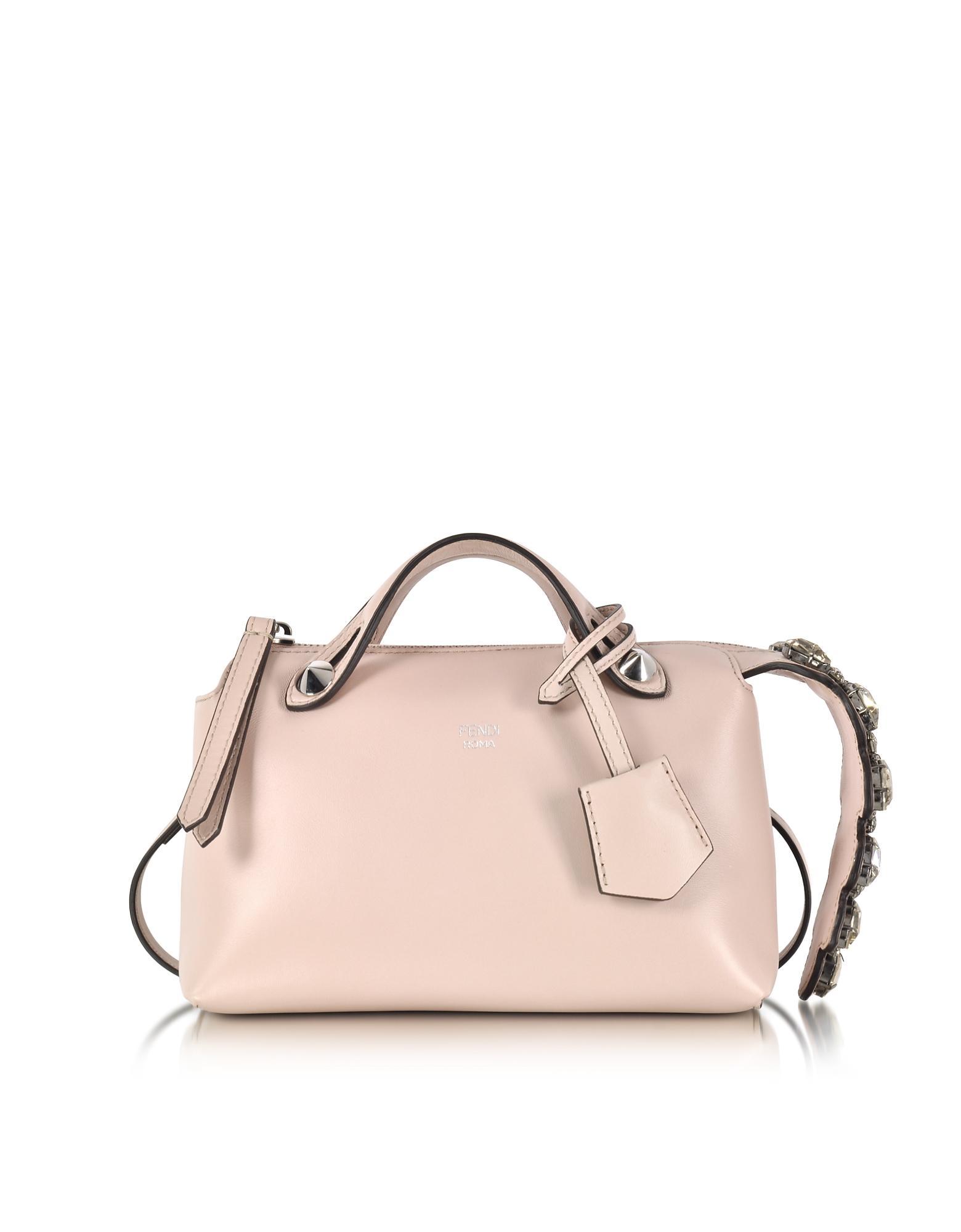 9caa97b754 Fendi Soft Pastel Pink Leather Mini By The Way Boston Bag W/smoky ...