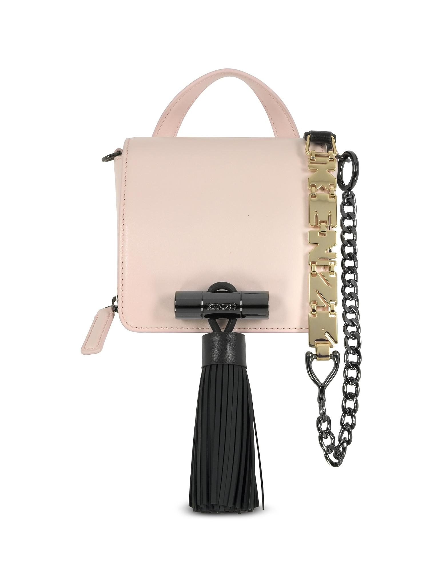 903fc5c730 Lyst - KENZO Sailor Faded Pink Leather Crossbody Bag W/rubber ...