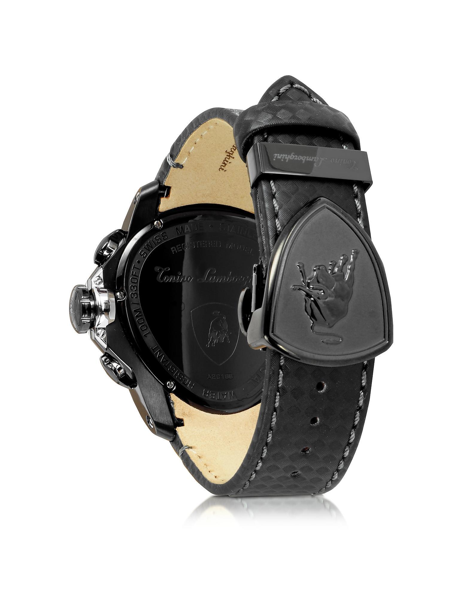 Tonino lamborghini Black Stainless Steel Spyder ...