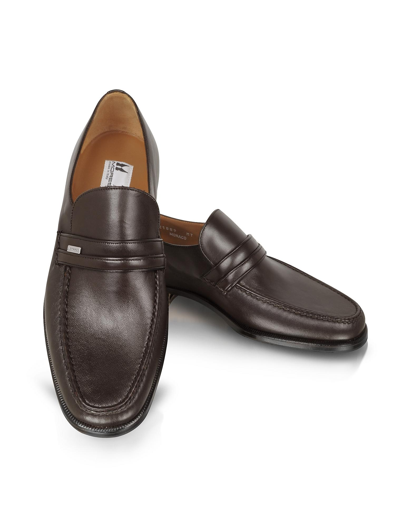 Brown Leather Shoe Lace Loafers