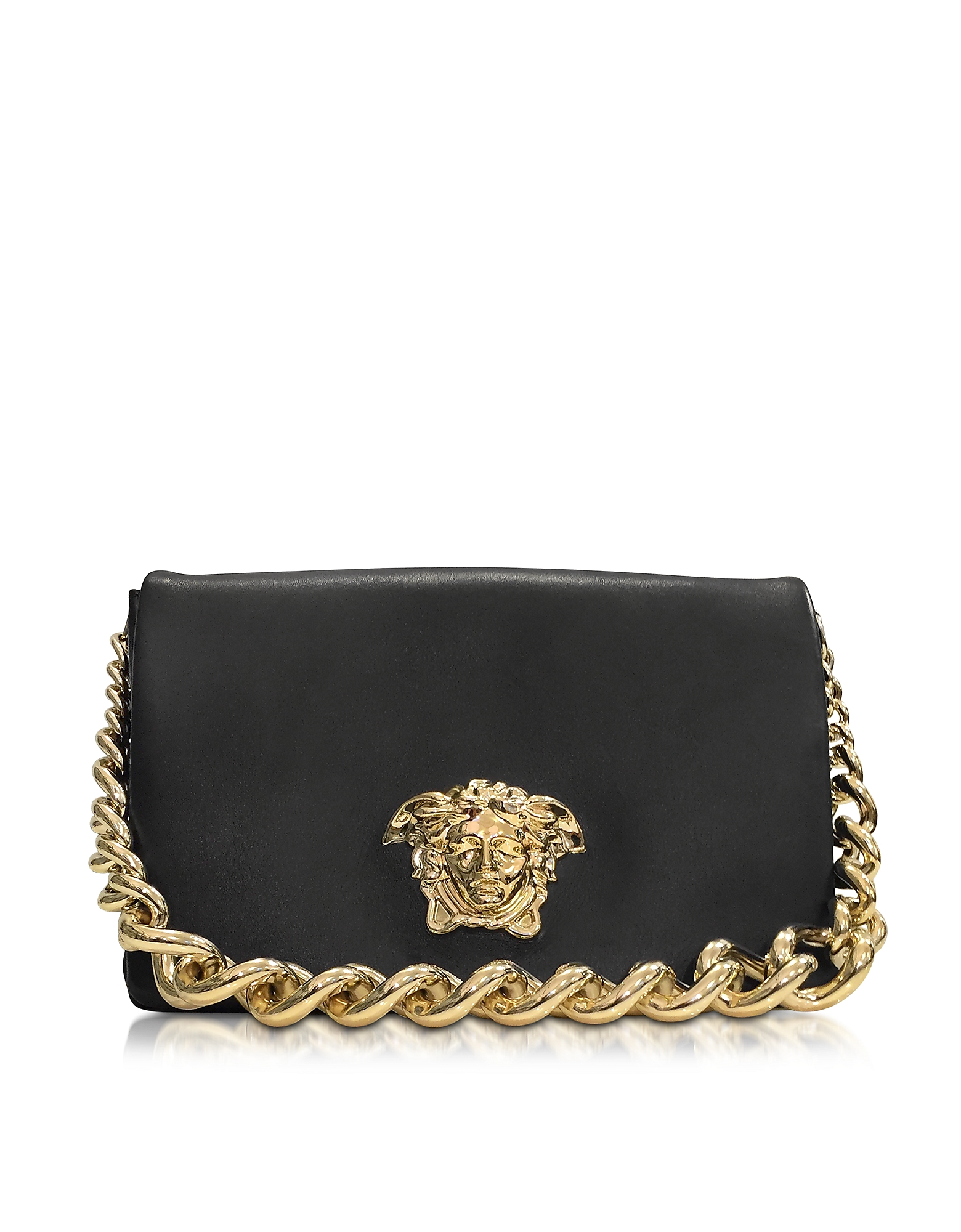 8bb74f284392 Versace Palazzo Black Shoulder Bag W golden Medusa   Chain in ...