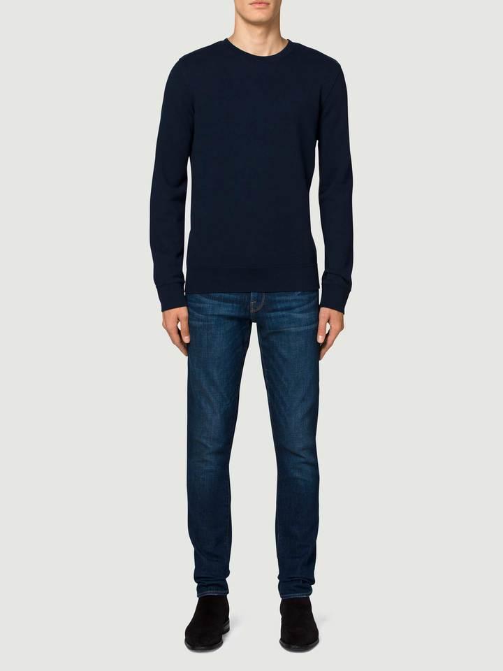 Lyst Frame Crew Elbow Patch Sweatshirt In Blue For Men