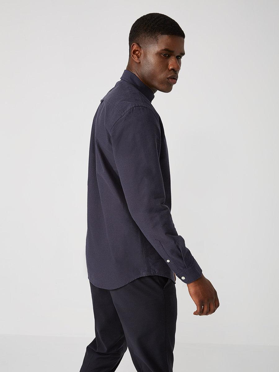 Frank oak the jasper oxford shirt in ombre blue in blue for Frank and oak shirt