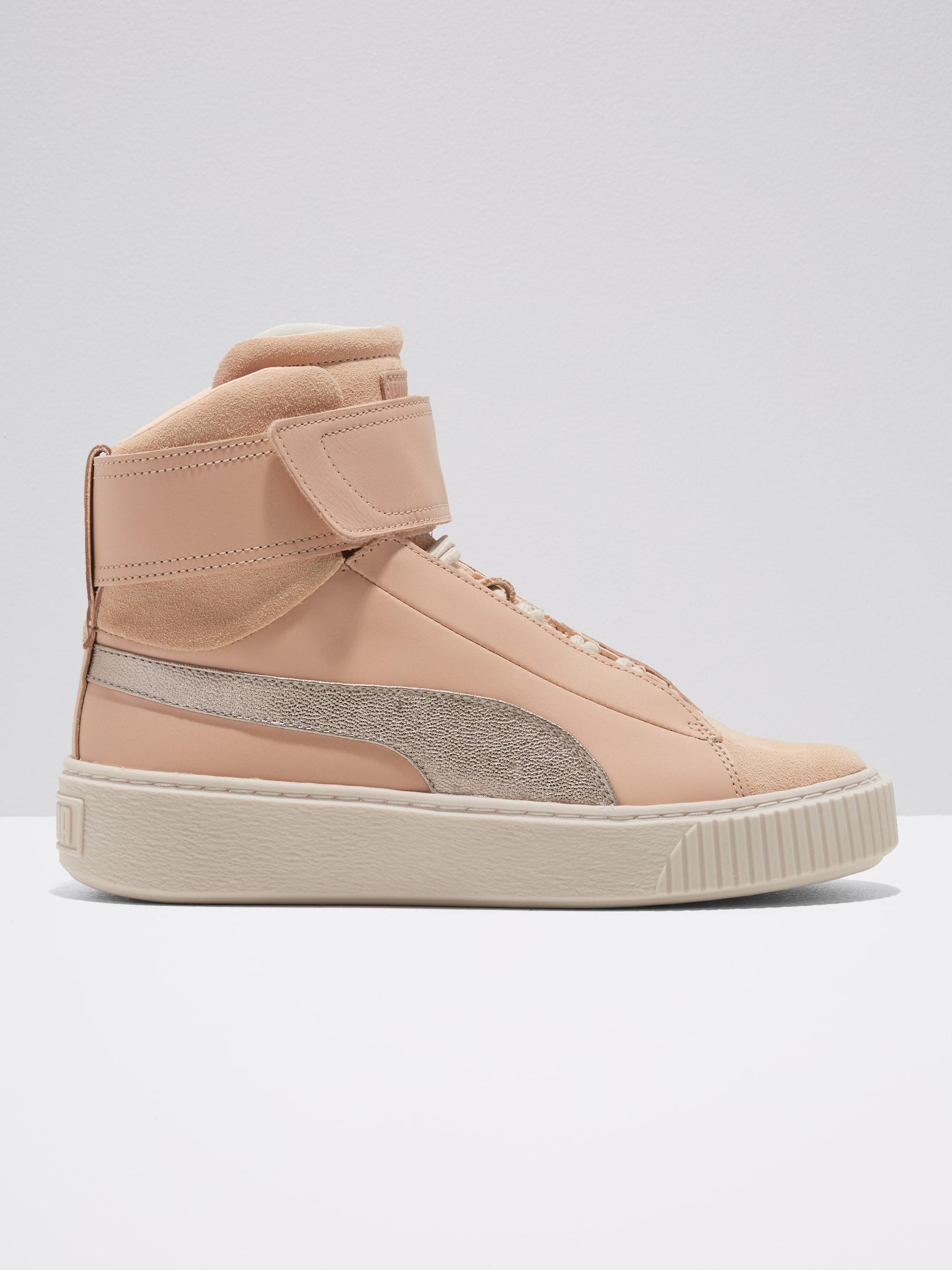 0f5dd63732b221 Lyst - Frank And Oak Puma Basket Platform Suede High-top Sneakers In ...