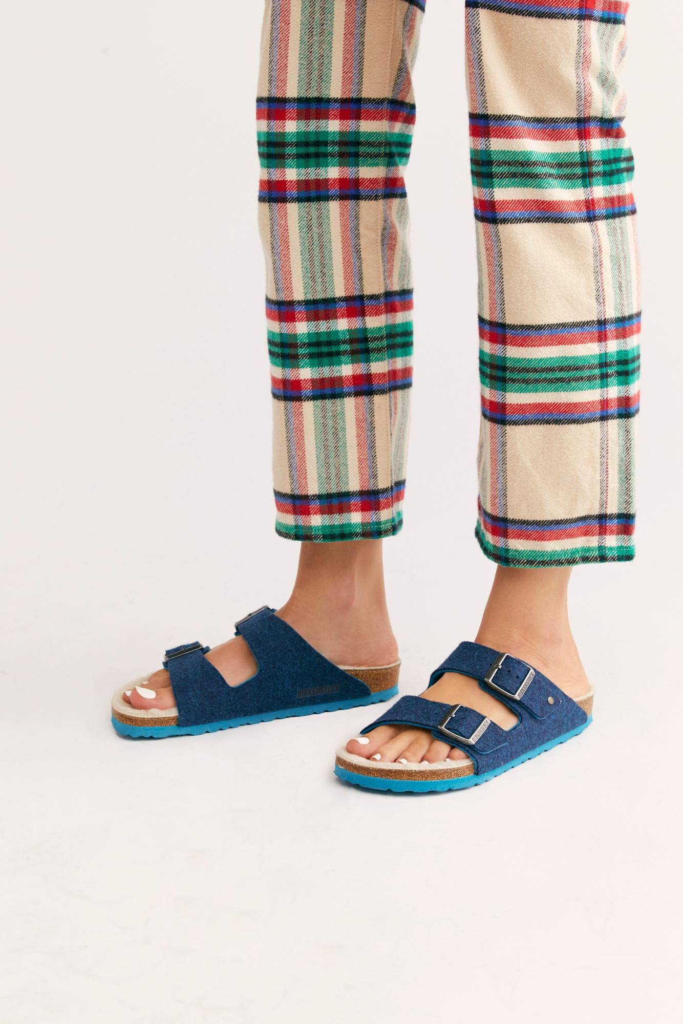a0df8202b64a5 Lyst - Free People Arizona Happy Lamb Birkenstocks in Blue