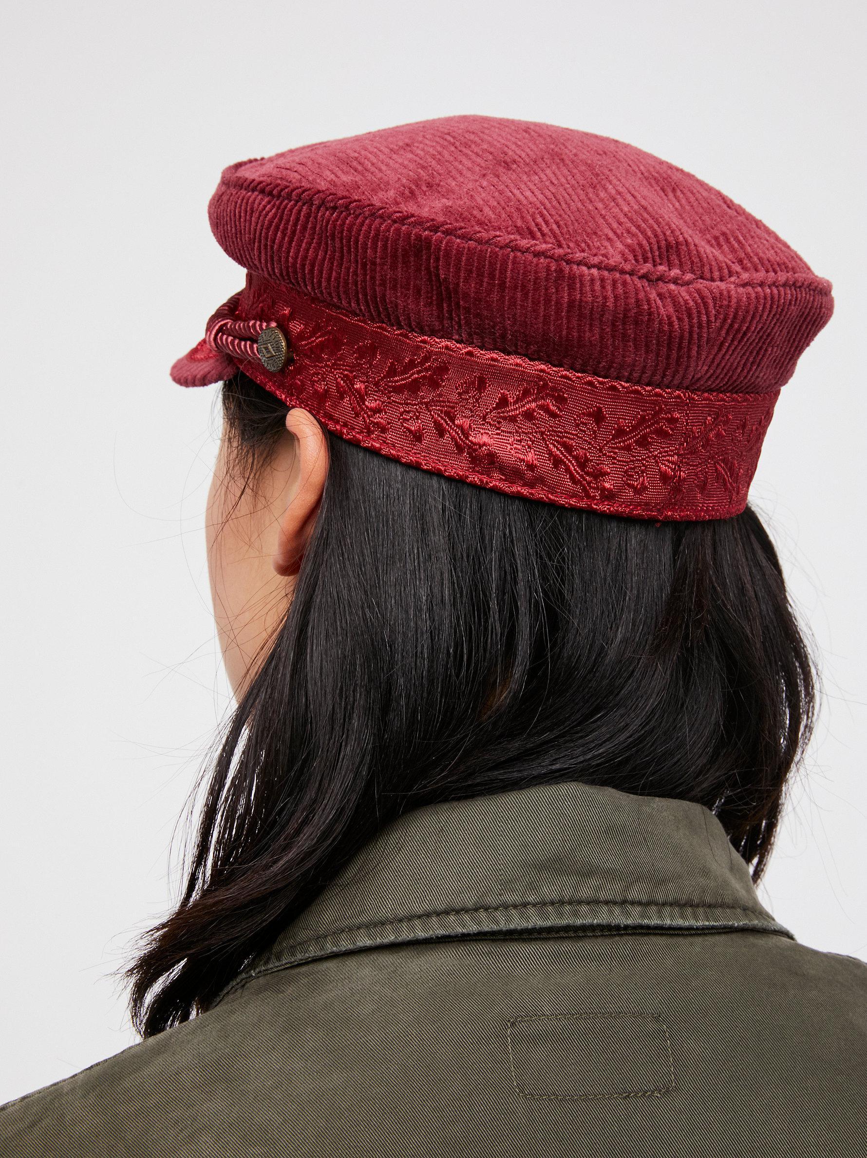 ca5d56ec885 Lyst - Free People Albany Cord Lieutenant Hat in Black