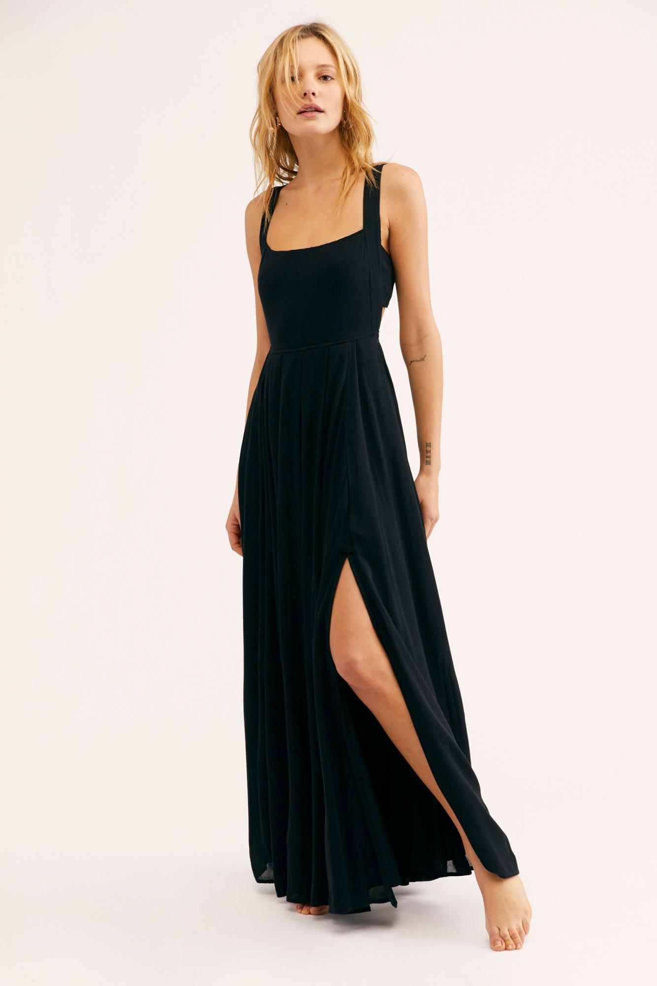 bda9a5a2b65 Lyst - Free People Yes Please Maxi Dress By Endless Summer in Black