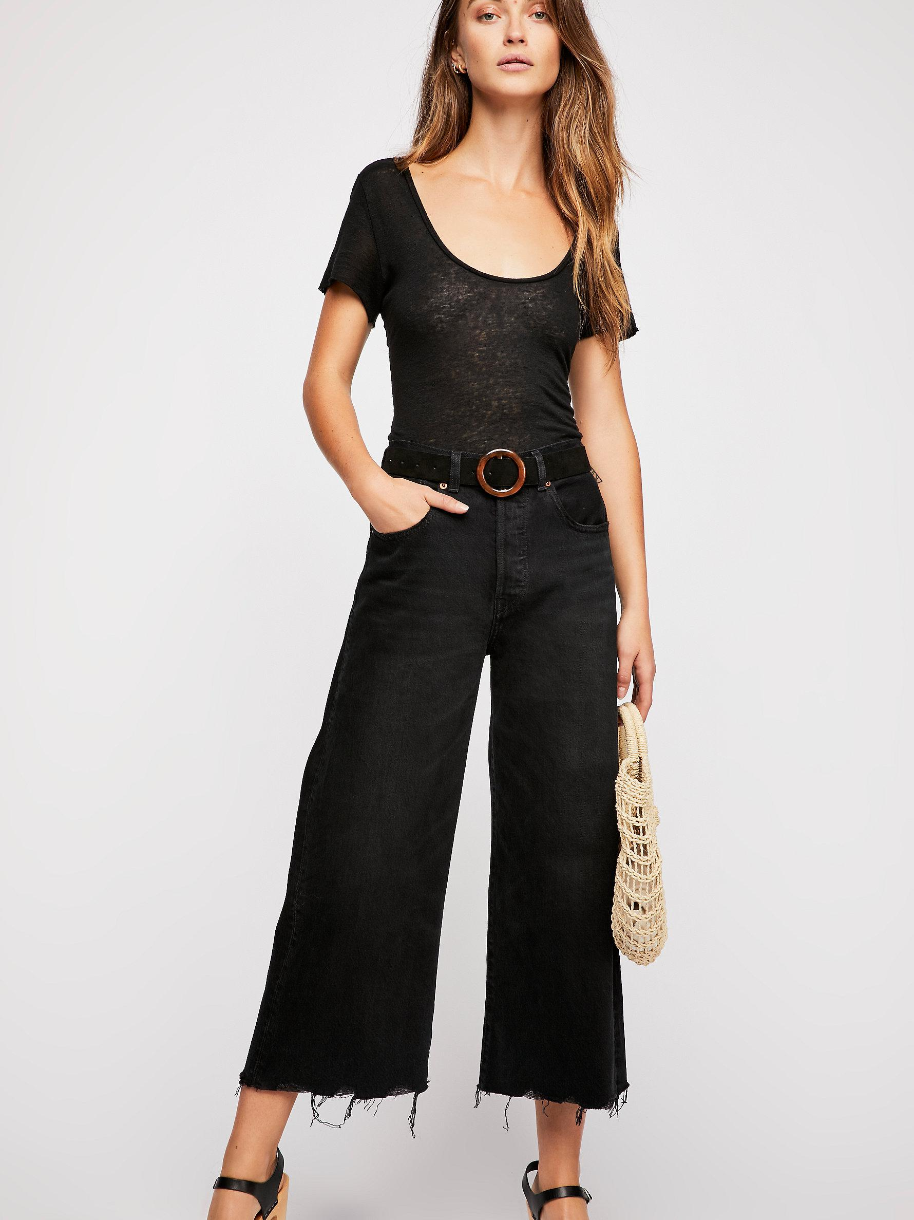 Free Wide Water Leg Levi's People Lyst Jeans In Black High IpPRnpqr