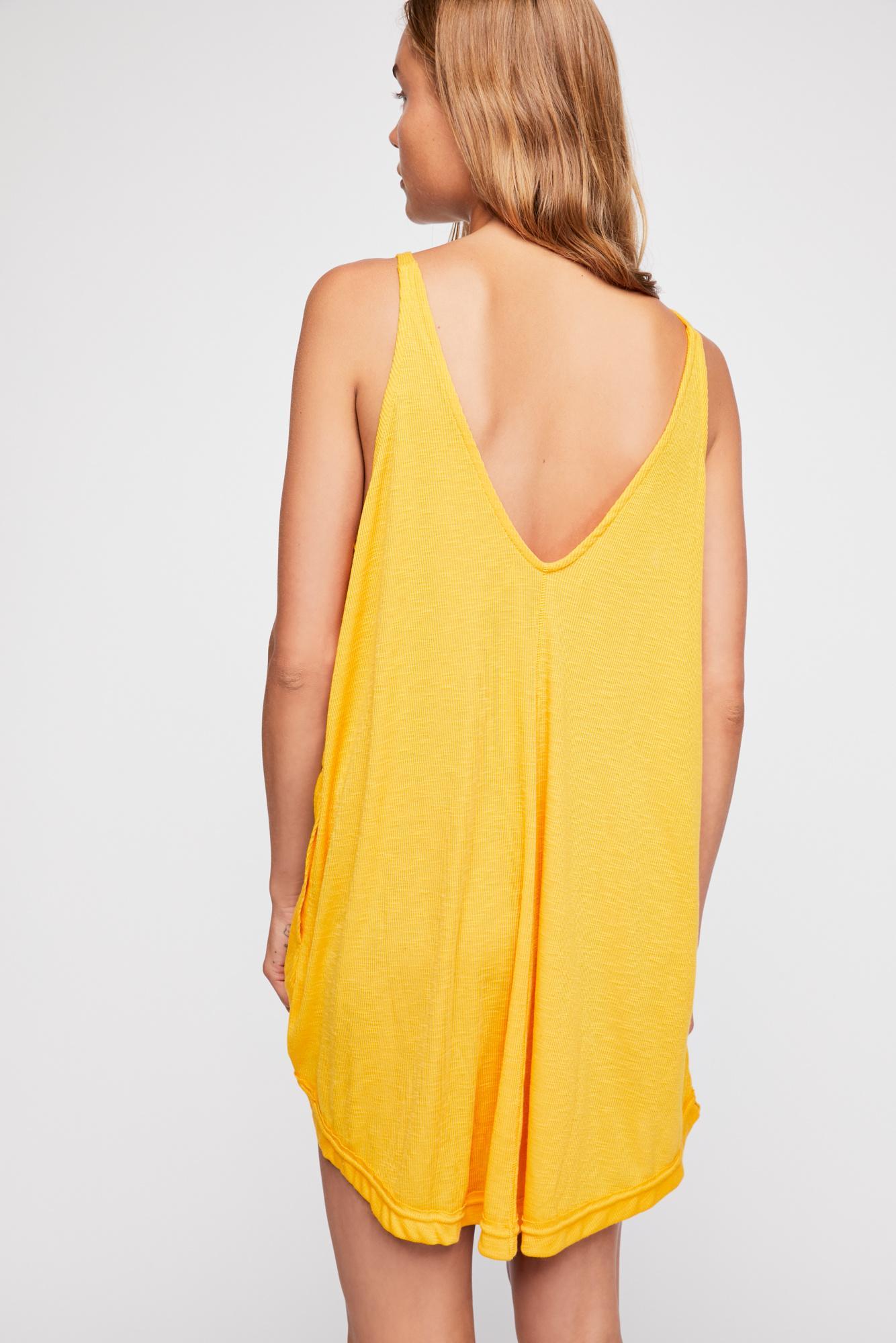 d0937da8c6 Free People - Yellow Clovers Mini Dress By Fp Beach - Lyst. View fullscreen