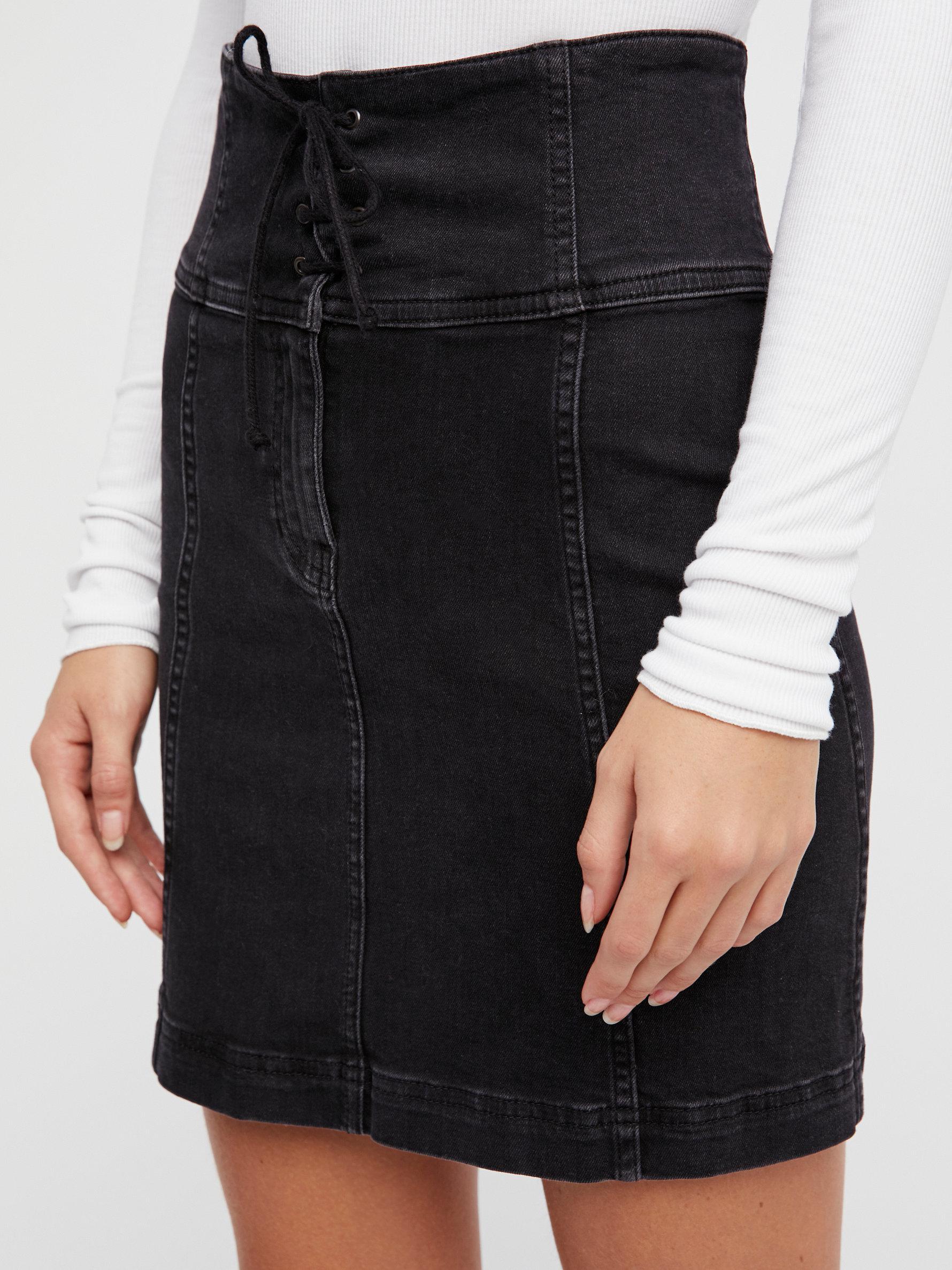 2693d4a6488 Lyst - Free People Modern Femme Corset Mini Skirt in Black