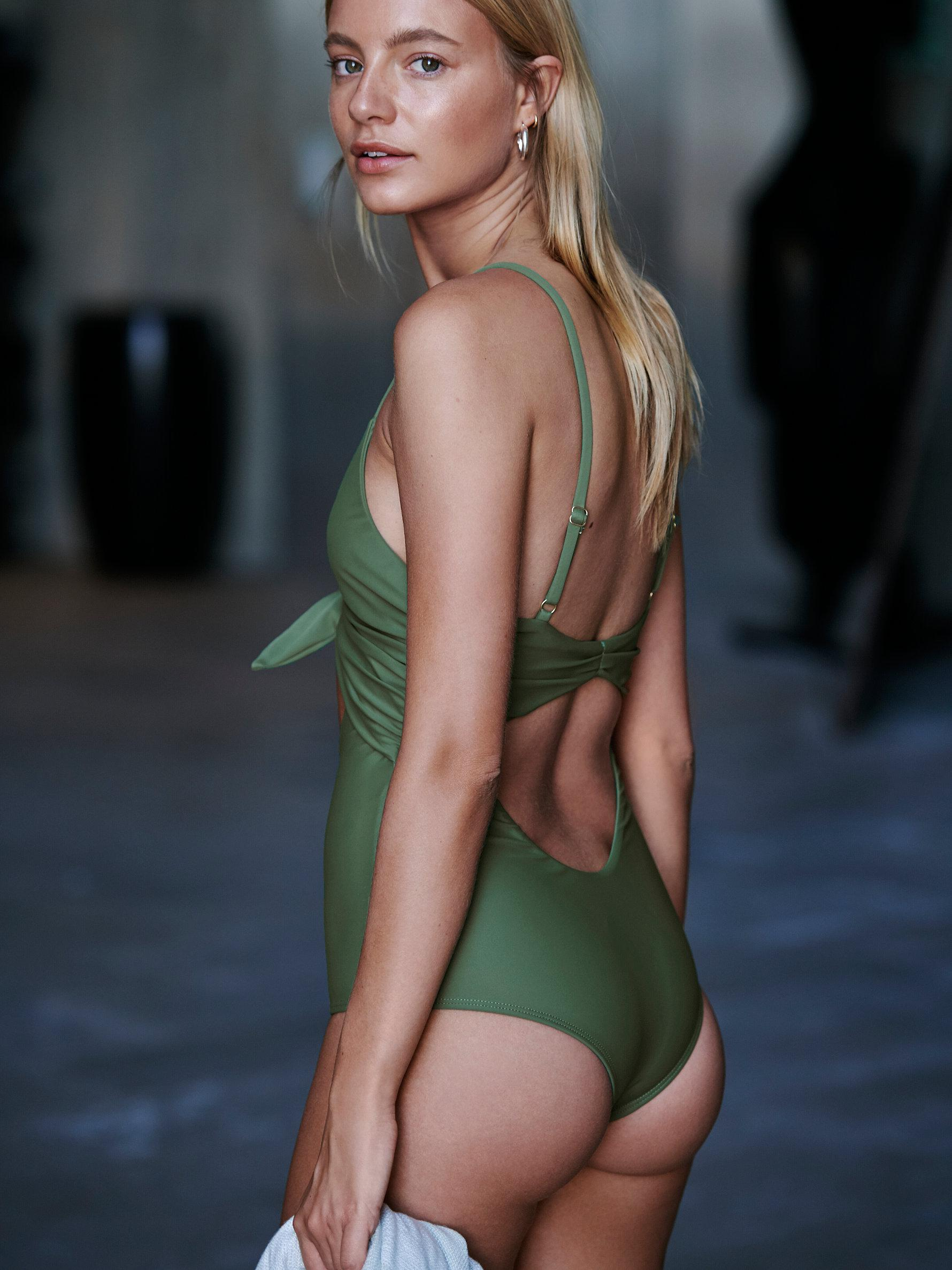 b252742ae7a7e Free People Sophea One-piece Swimsuit in Green - Lyst