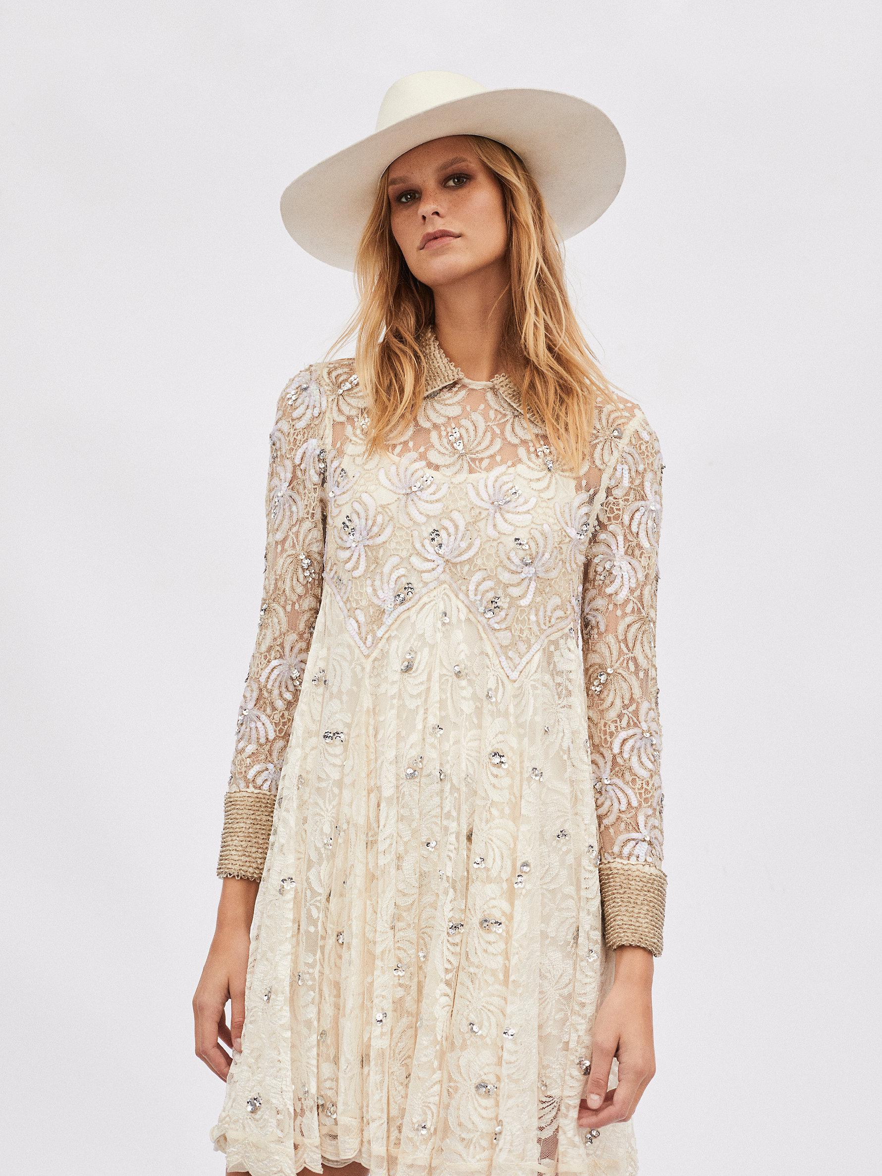 8a3db9b308d Lyst - Free People Ana s Holiday Limited Edition Dress in Natural