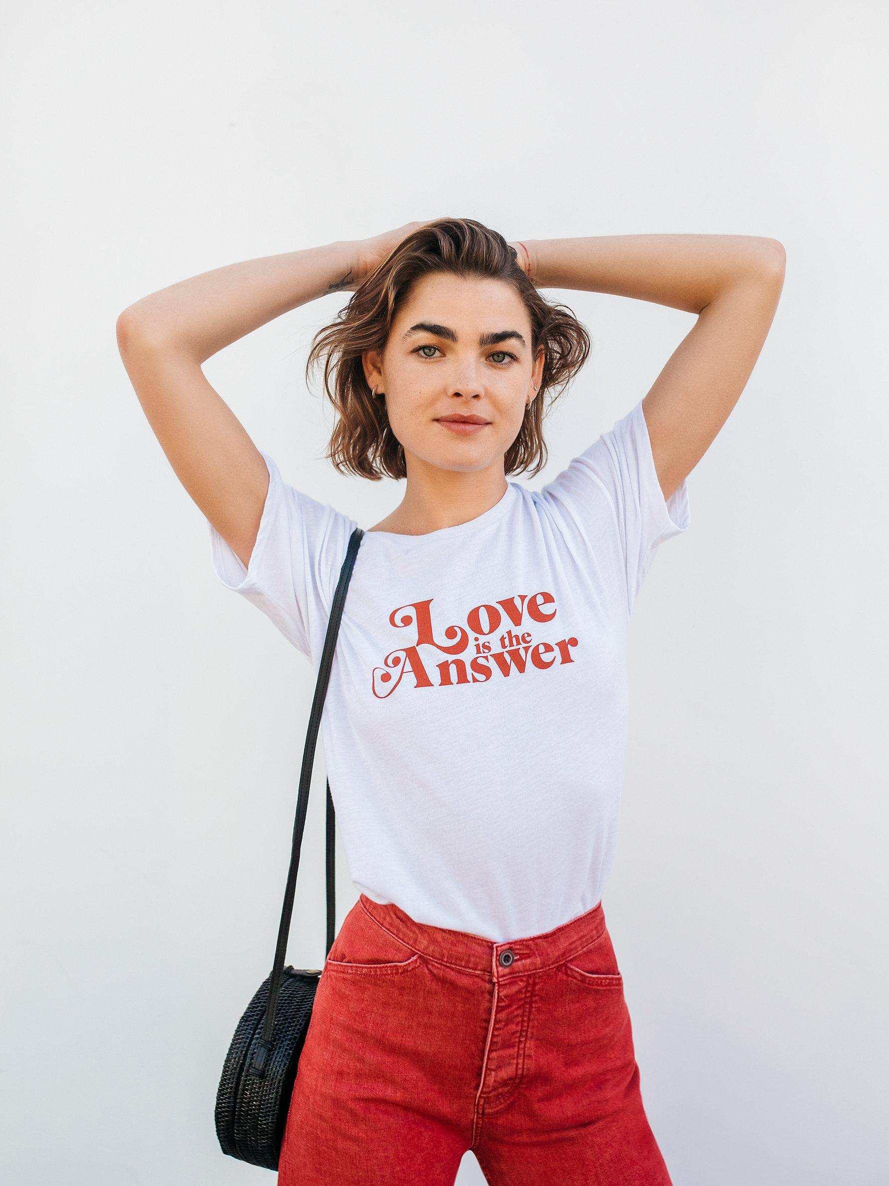 15a5e6ddf Free People Love Is The Answer Tee in White - Lyst
