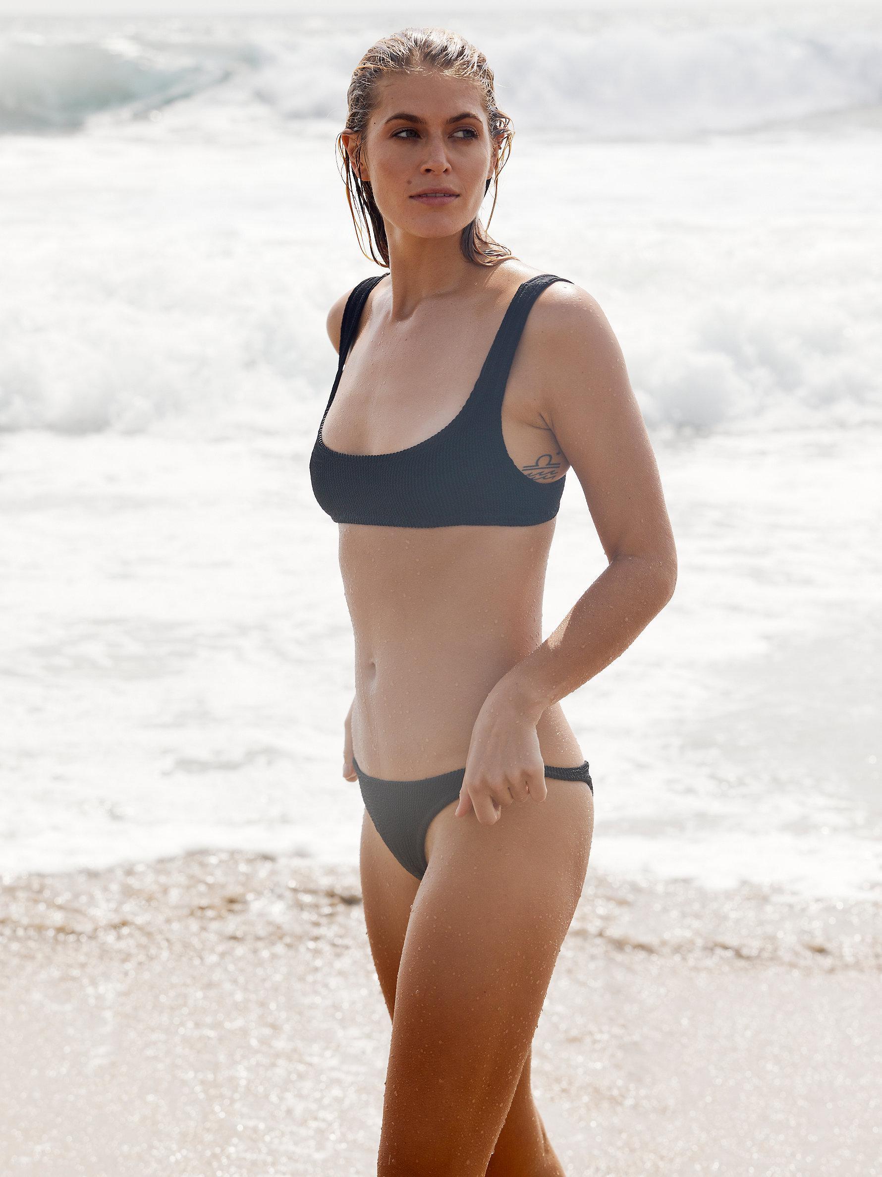 8052489129 Free People Brazil Scrunch Bikini Bottom in Black - Lyst