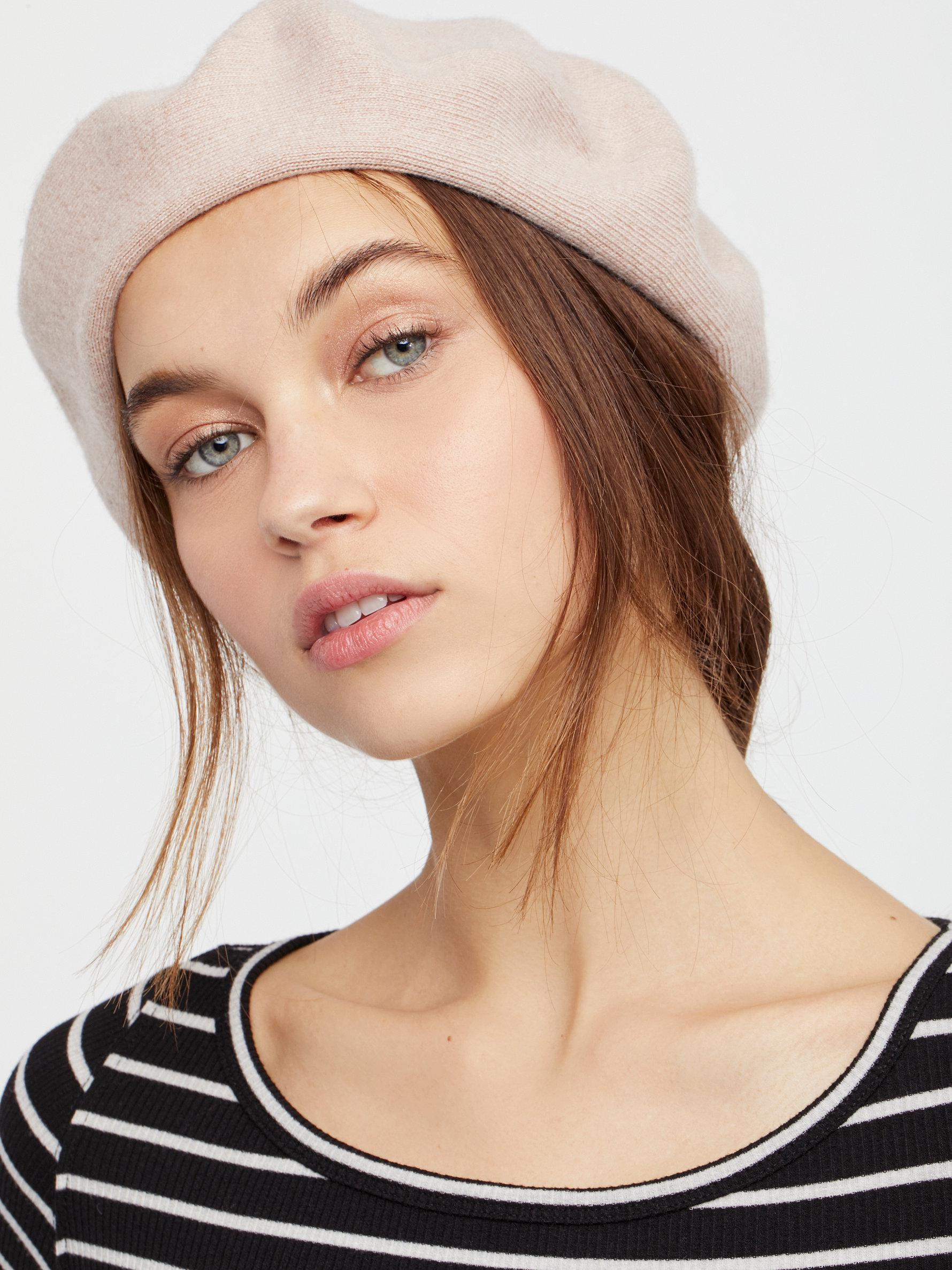 ba3614a5f7b72 Free People Merci Knit Beret in Pink - Lyst