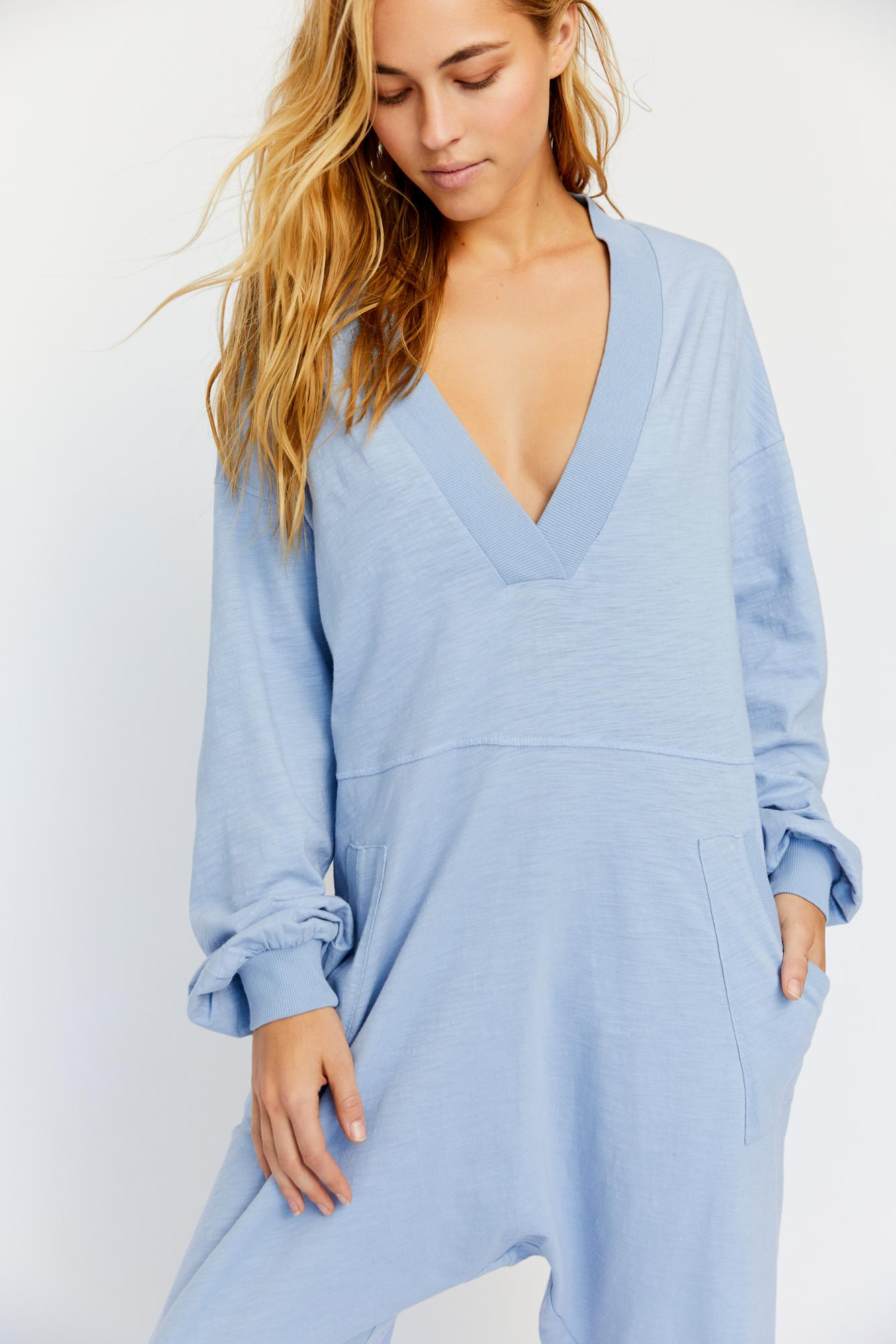 74fd9b8a18 Lyst - Free People Just Because Onesie By Intimately in Blue