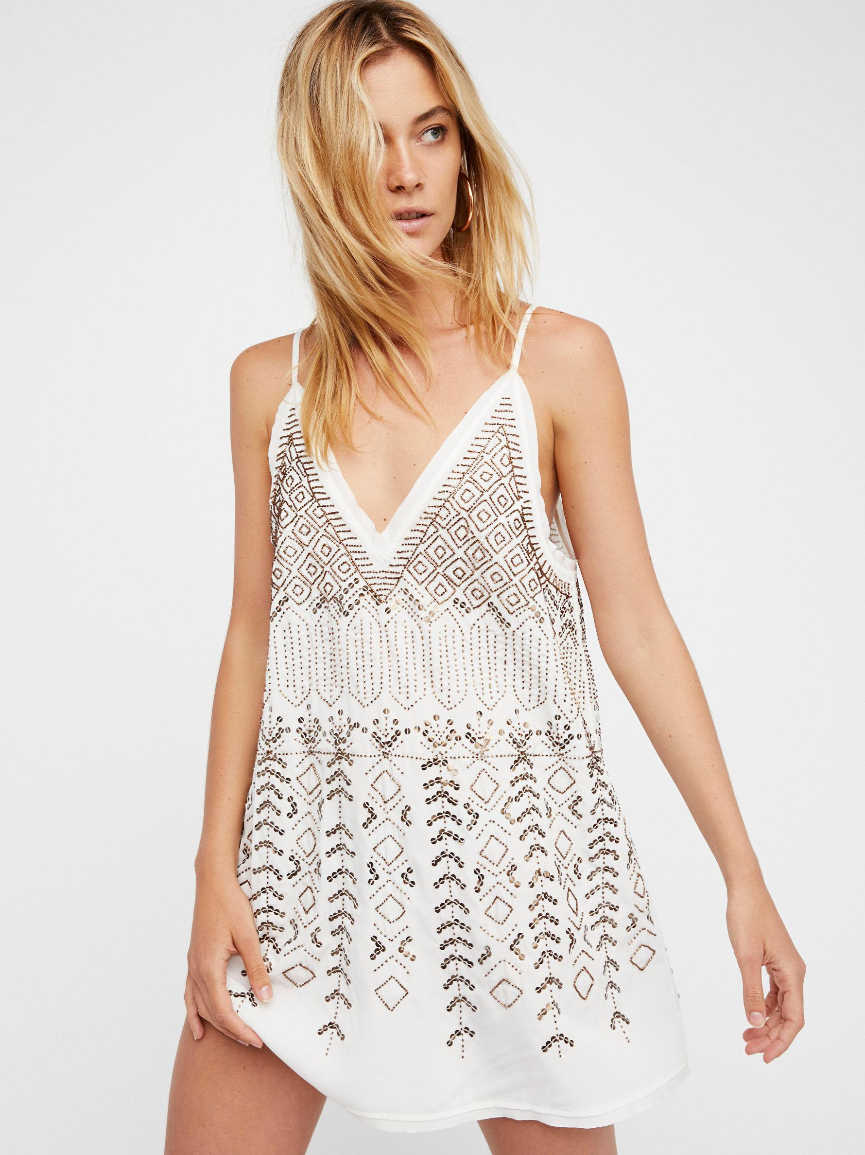 8bff903ad6b Free People Arizona Nights Embellished Slip in White - Lyst