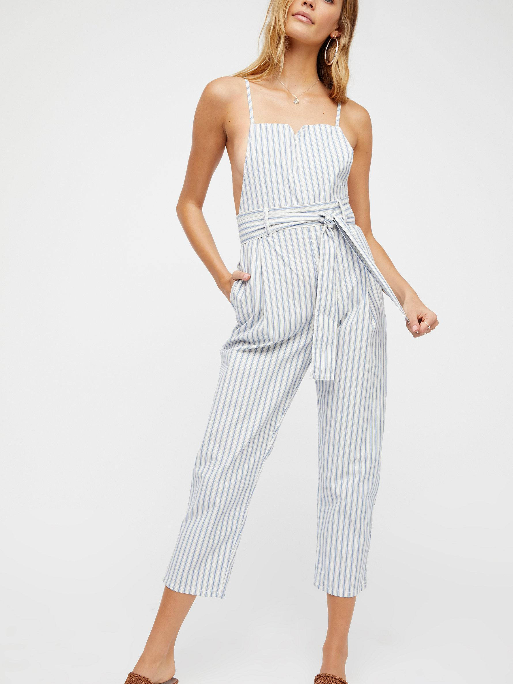 8dc9cc8dff31 Lyst - Free People Isabelle Pegged One-piece