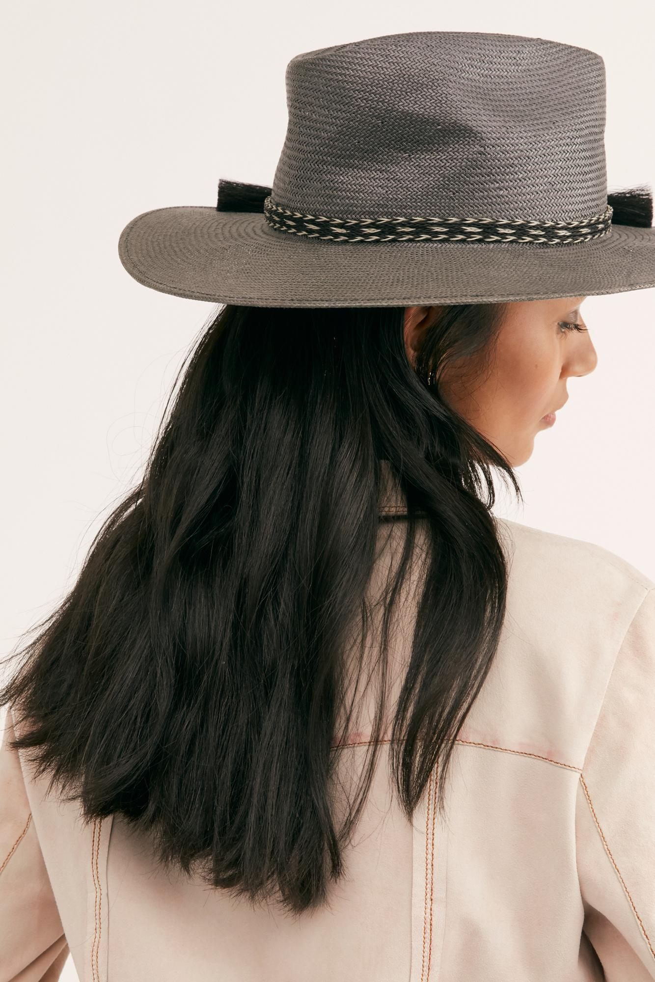 3a7946213a67e Lyst - Free People Easy Rider Straw Hat in Black