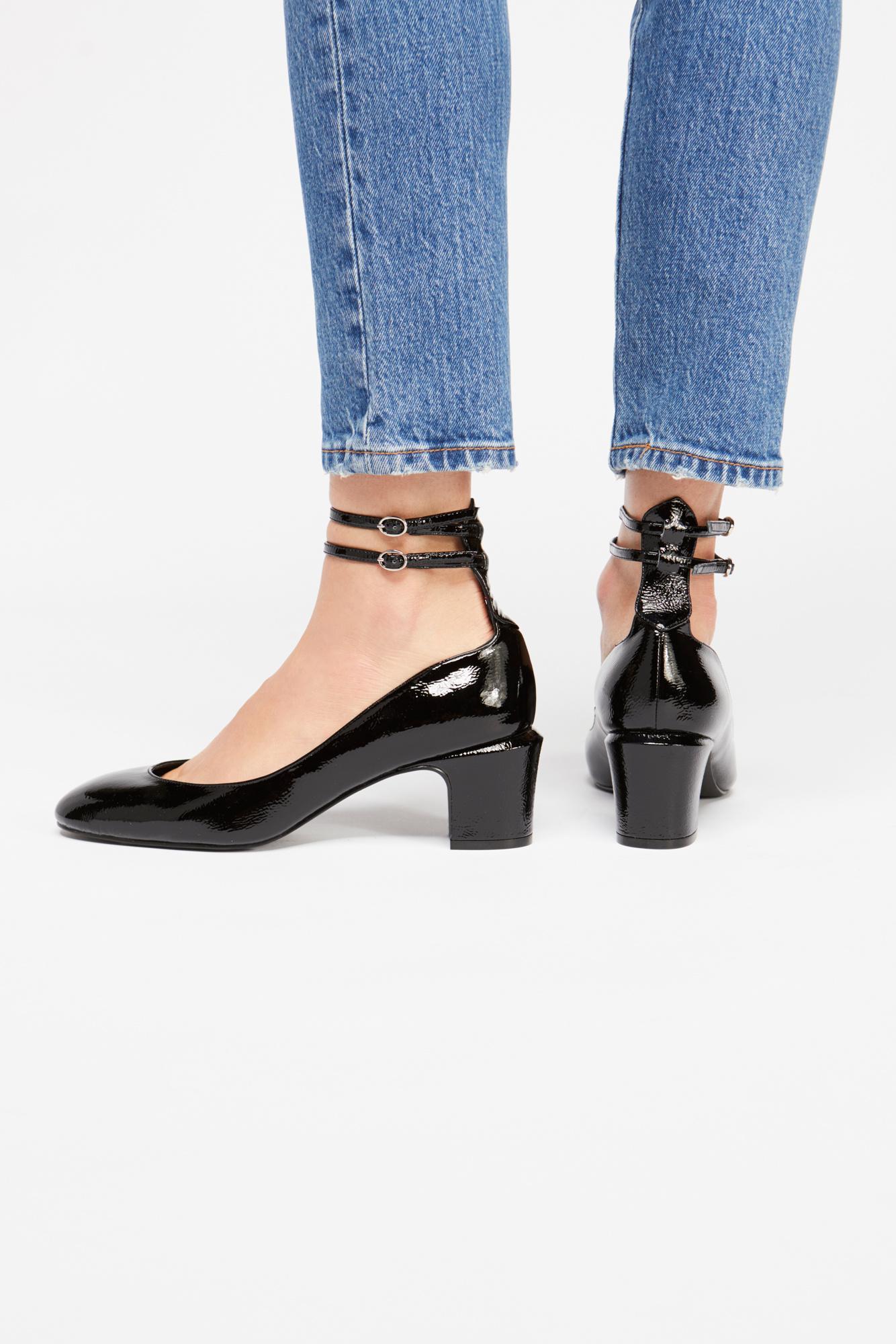 41d27577066 Lyst - Free People Lana Block Heel in Black