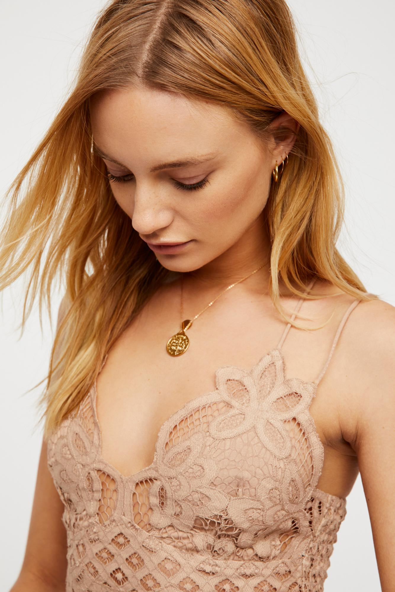 eb11e777c6 Free People Intimately Fp Adella Longline Bralette in Natural - Lyst
