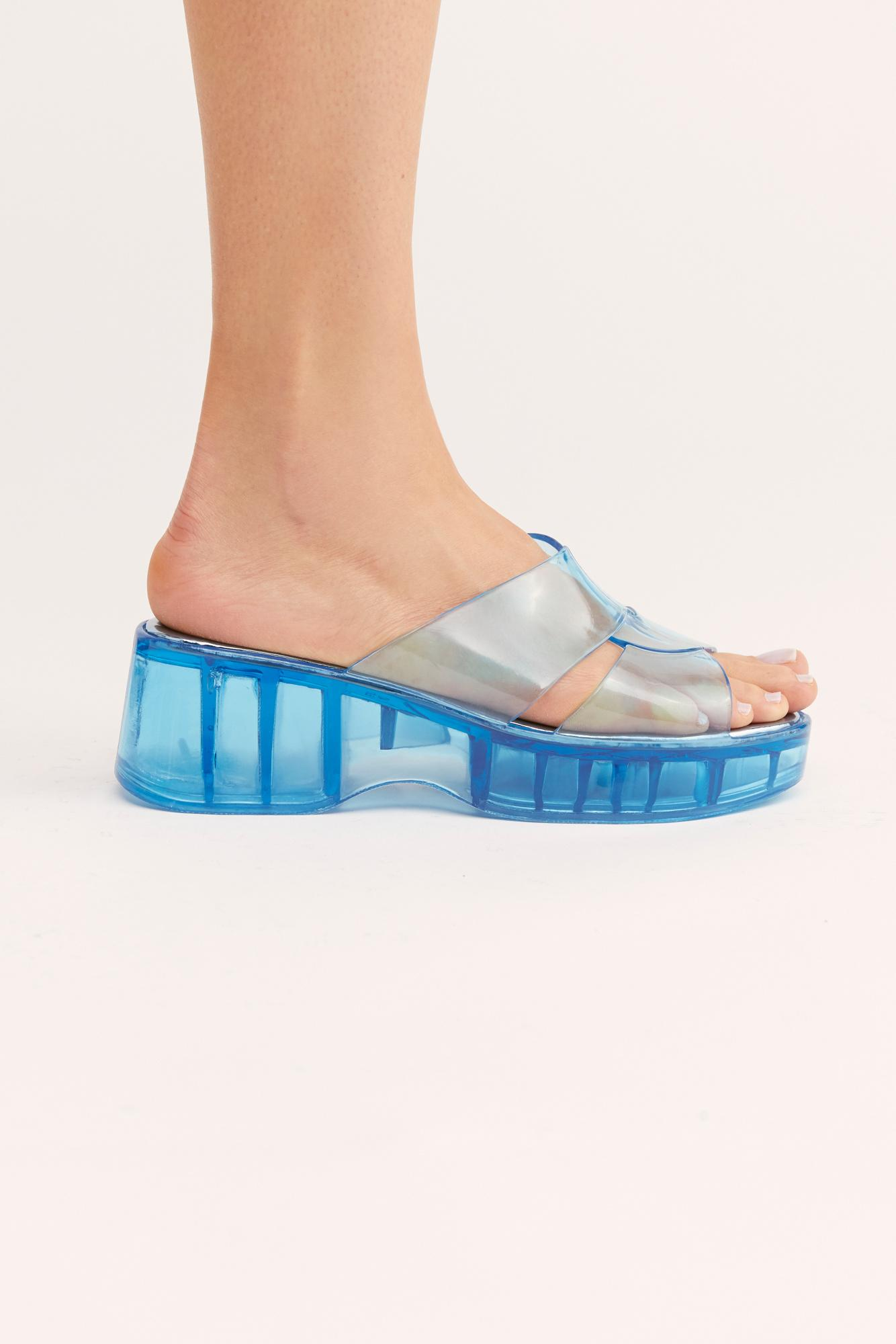 f4dae93cdfb1 Free People - Blue Wild Card Flatform Sandal By Jeffrey Campbell - Lyst.  View fullscreen