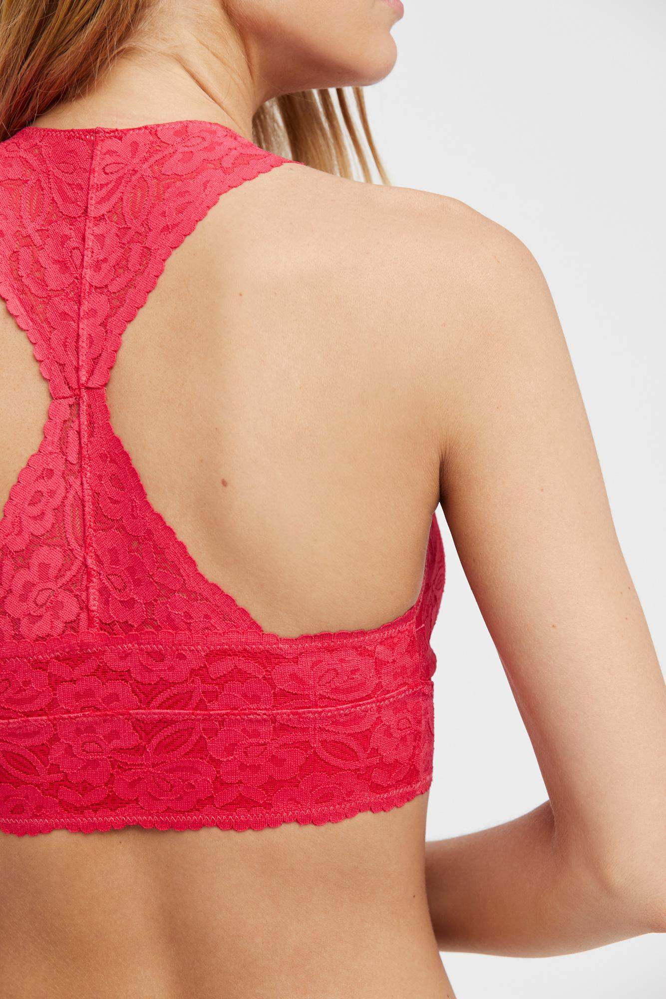 a26f9aae642e7 Free People - Pink Galloon Lace Racerback By Intimately - Lyst. View  fullscreen