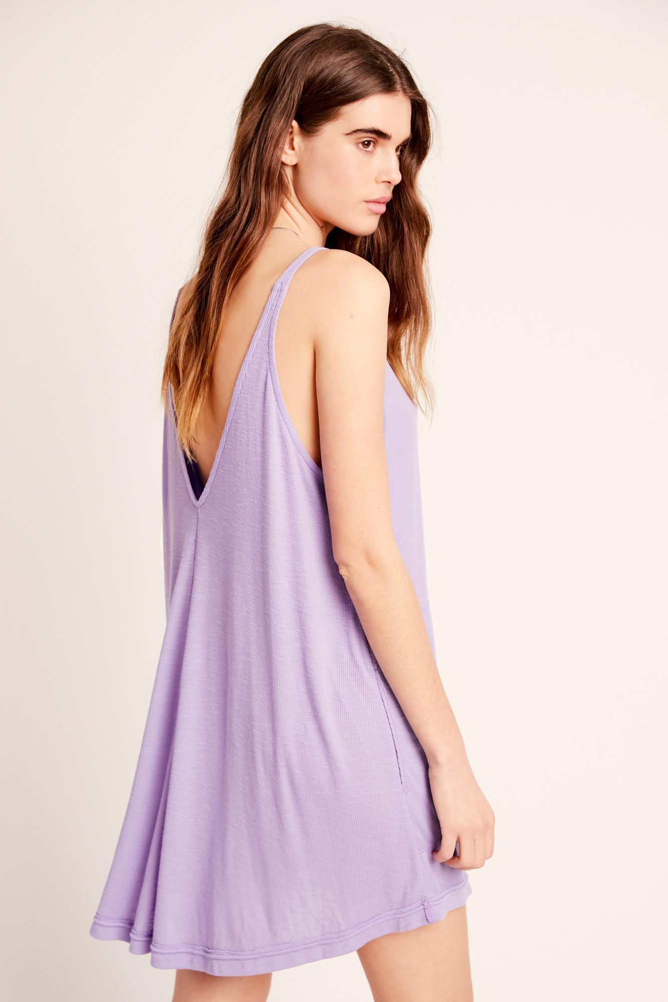 cad2dbd5b7 Lyst - Free People Clovers Mini Dress By Fp Beach in Purple