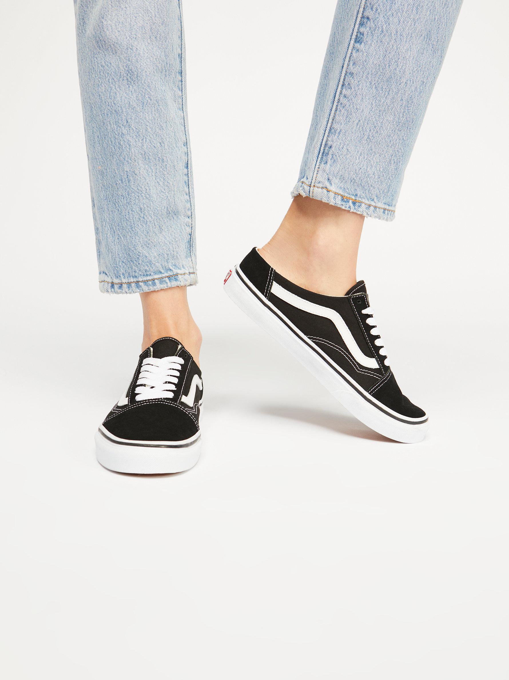 bf5fa86b796c Free People Old Skool Mule Sneaker in Black - Lyst