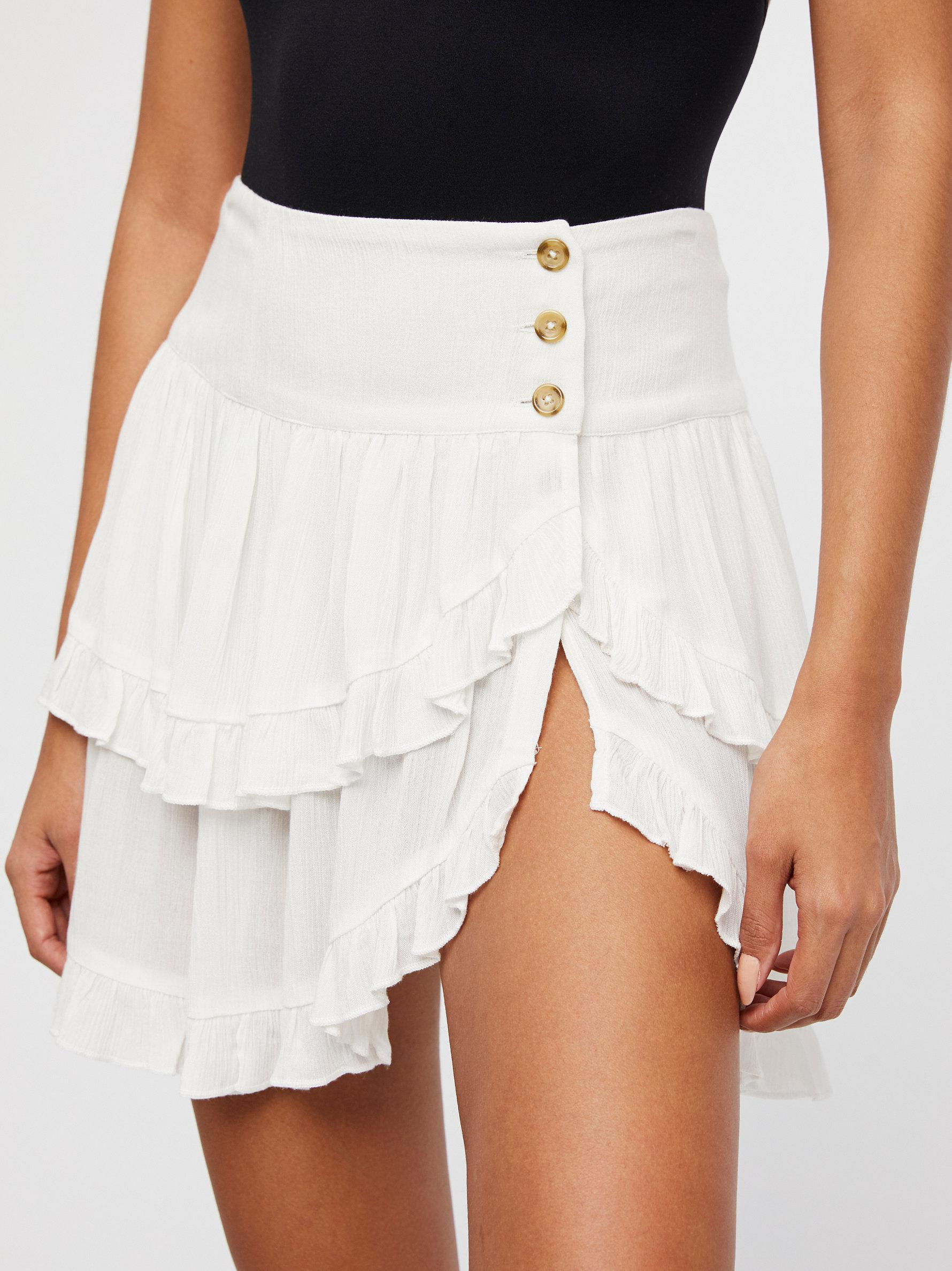 6868162ee282 Lyst - Free People Costello Skirt in White