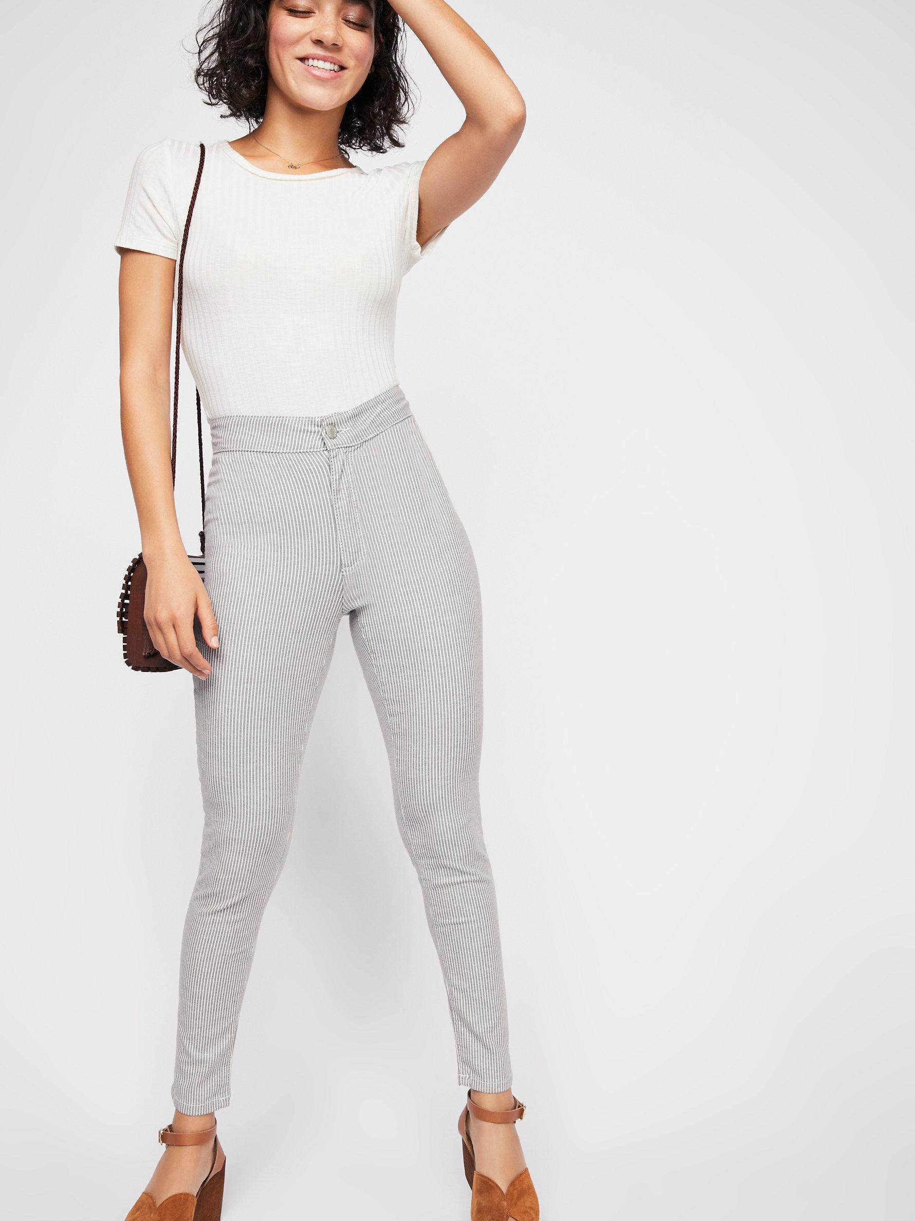 Lyst - Free People Belle Printed Skinny Pants