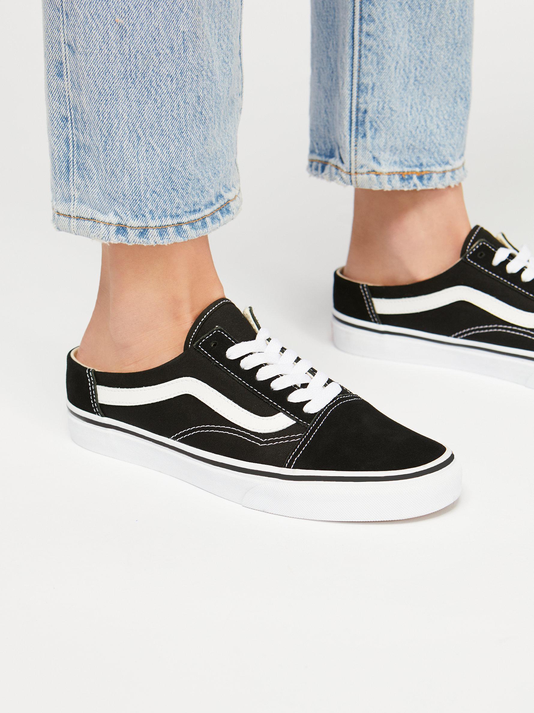 aea4b8f4f5f Lyst - Free People Old Skool Mule Sneaker in Black