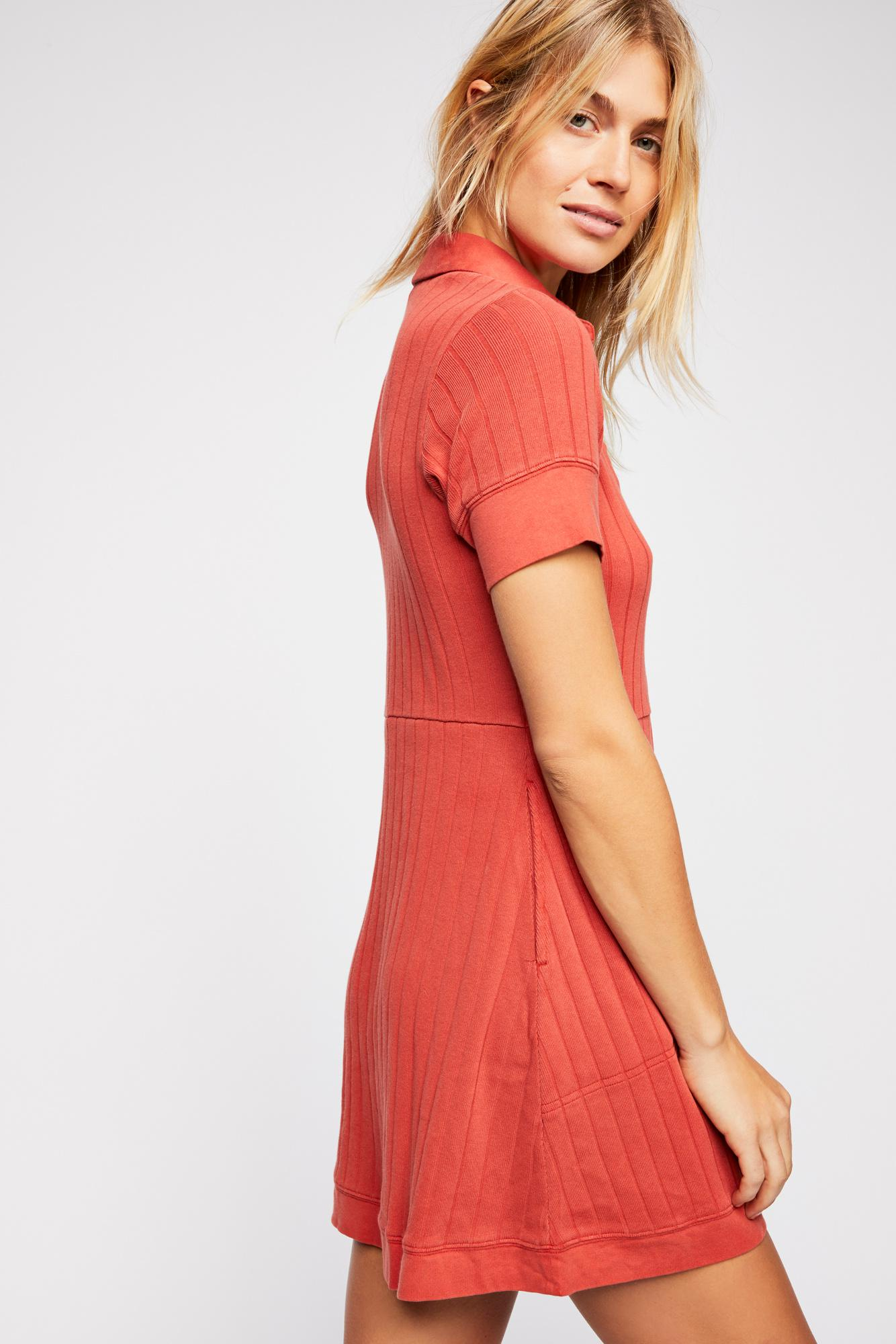 fa28ad5024 Free People - Red New Afternoon Mini Dress By Fp Beach - Lyst. View  fullscreen