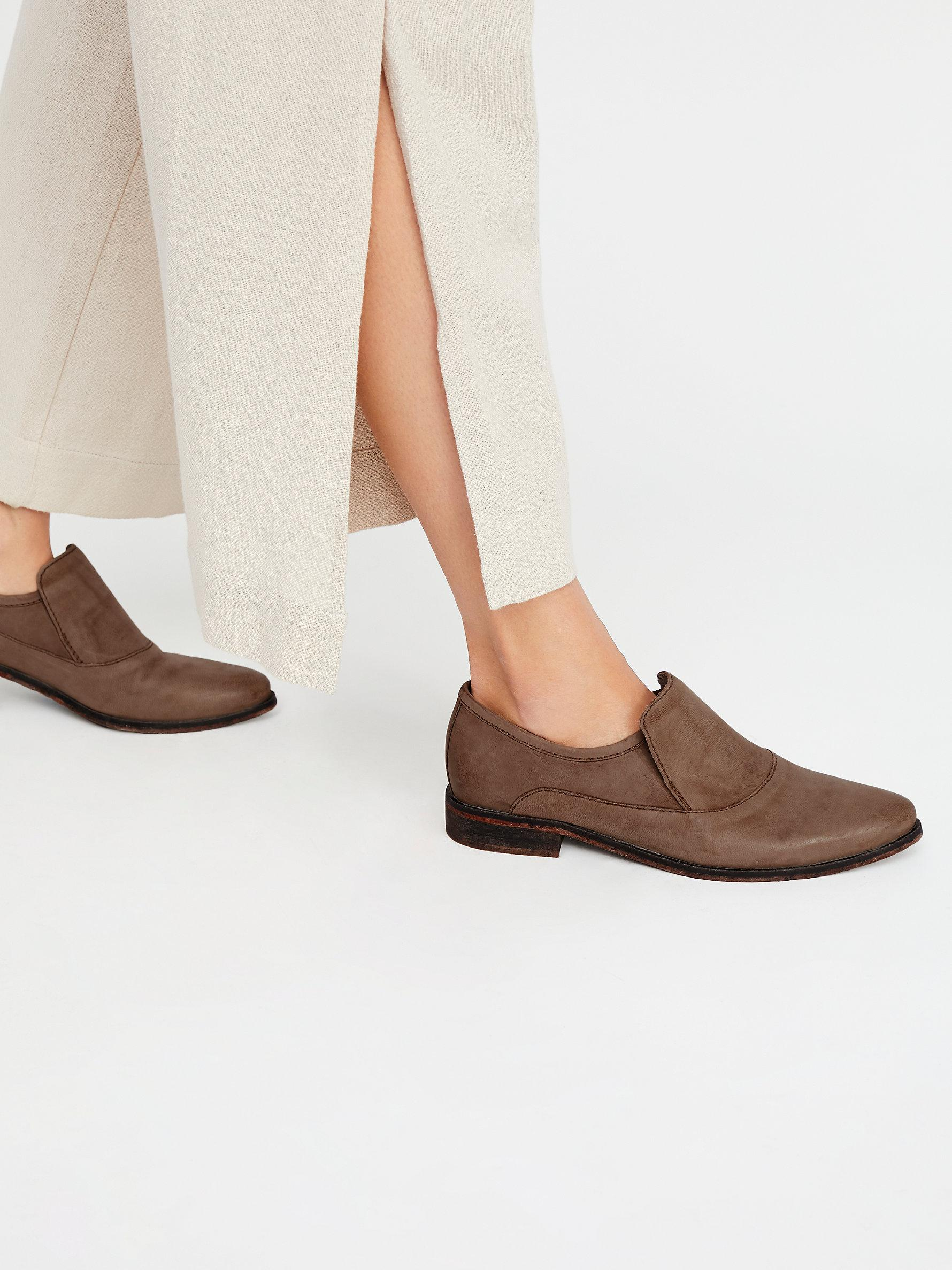 Free People Brady Leather and Suede Loafers ojABT56