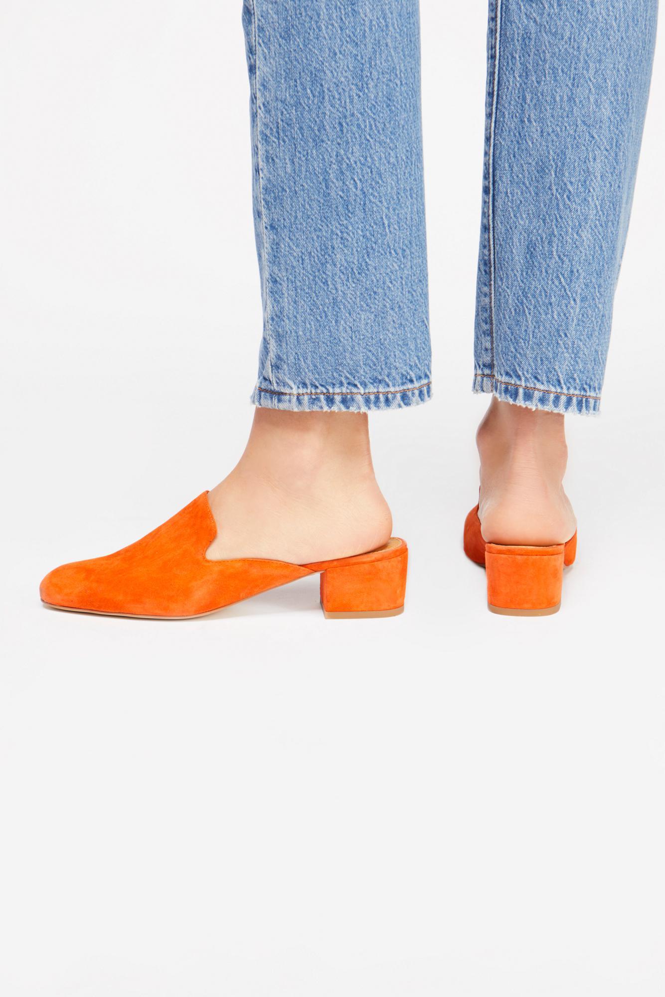 55d46239238 Lyst - Free People Supreme Block Heel Mule By Silent D in Orange