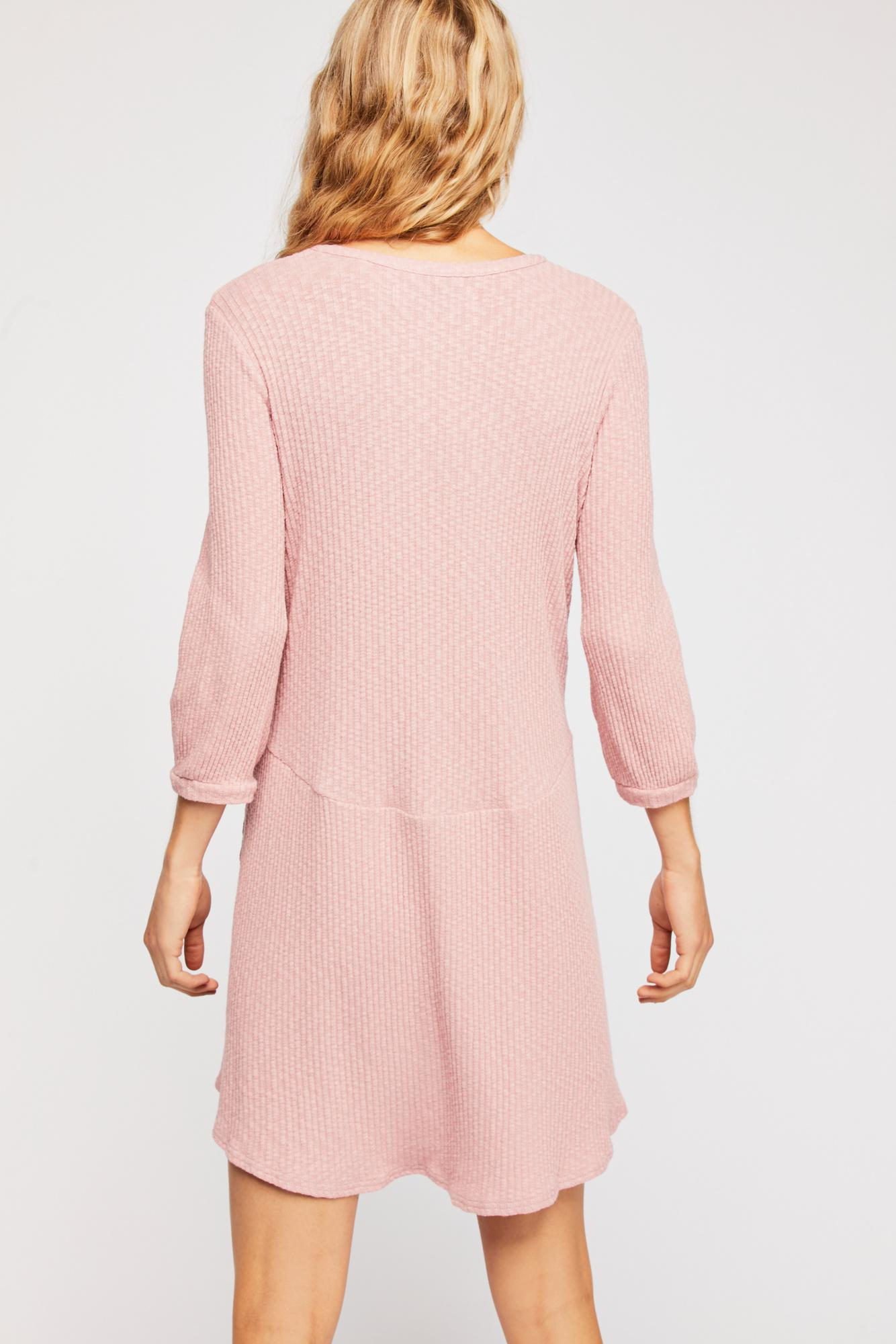 24ce894f315 Free People Blossom Button-up T-shirt Dress By Fp Beach in Pink - Lyst