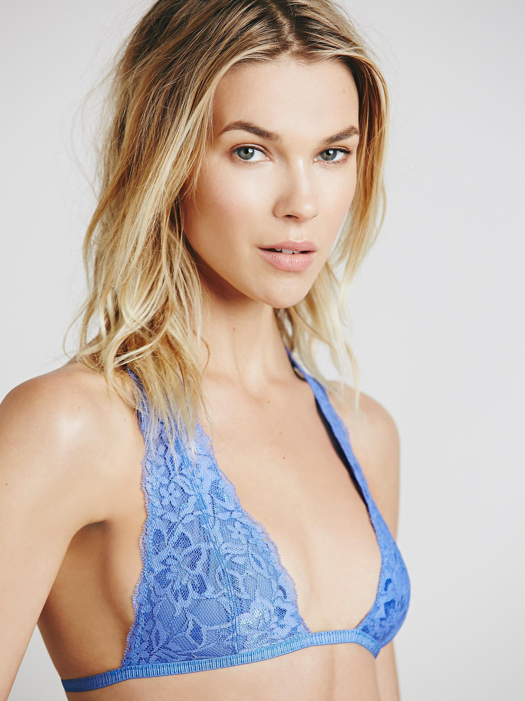 ee024b6cbe Lyst - Free People Truly Madly Deeply Halter in Blue