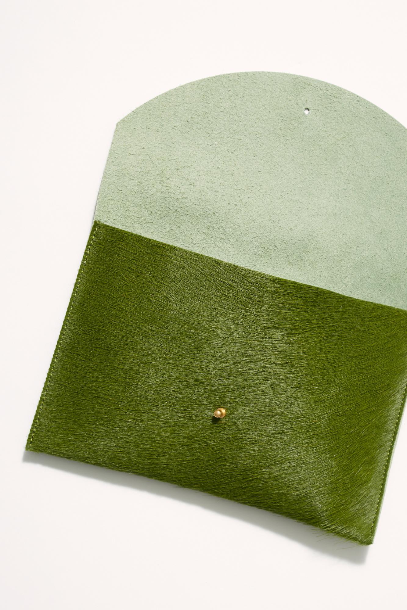 aa74e2ac8 Lyst - Free People Primecut Envelope Clutch in Green