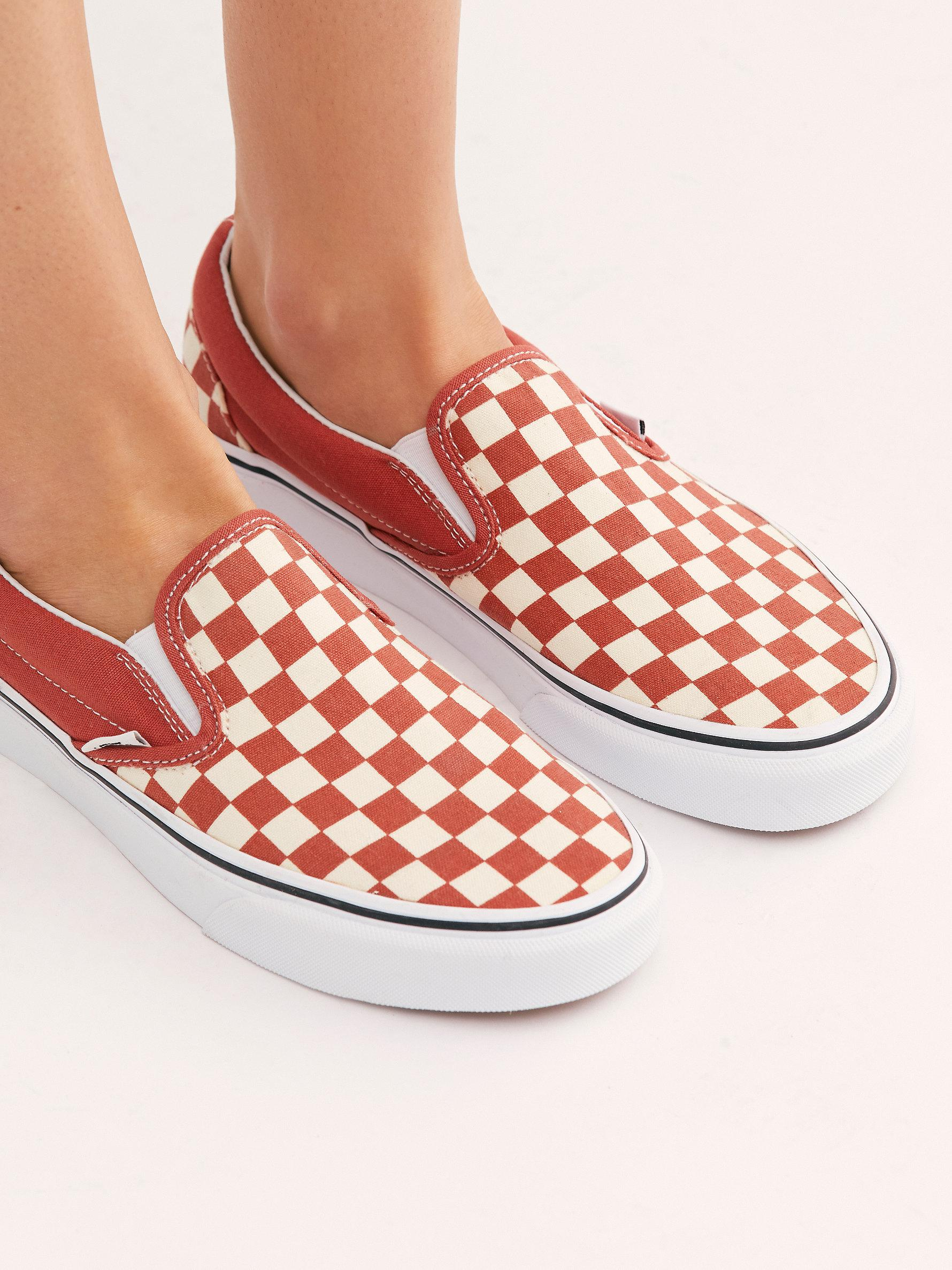 new concept 753e1 2e20b Free People Classic Checkered Slip-on By Vans - Lyst