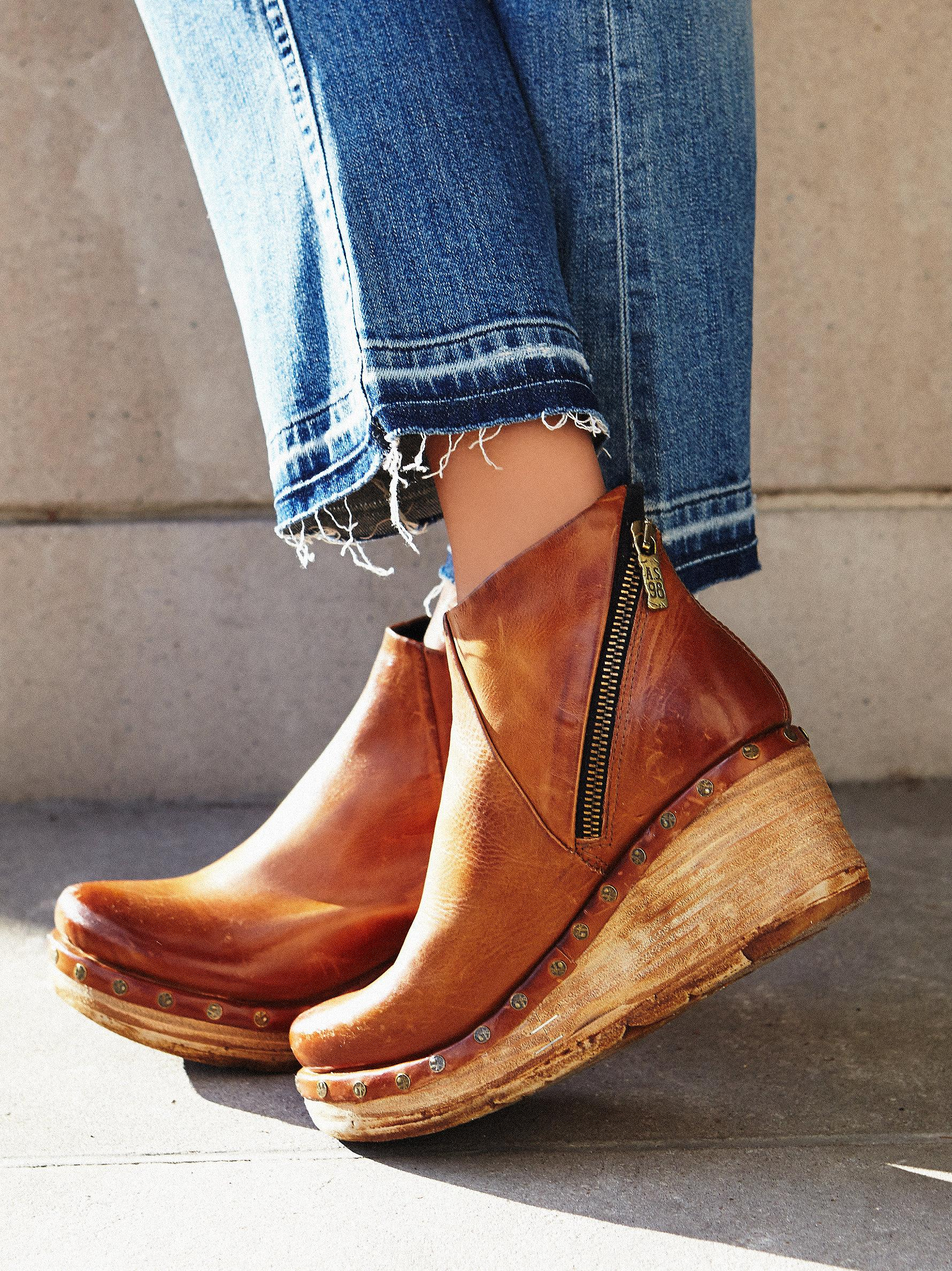 Free people Below Sunset Clog Boot in Brown | Lyst