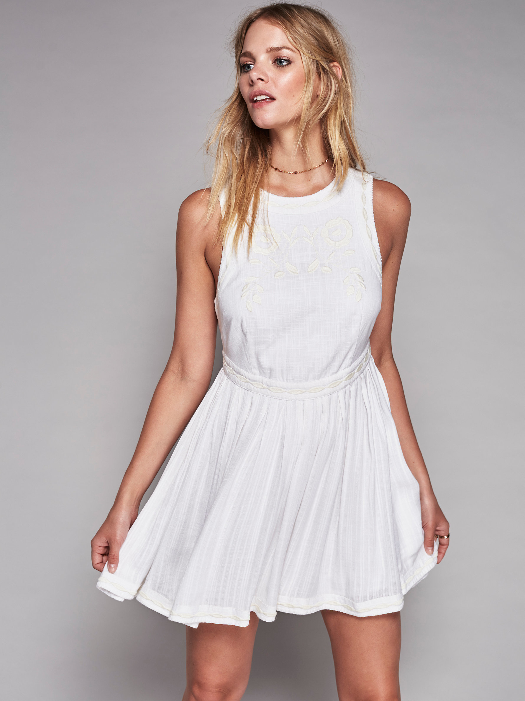 322536be06aa8 Lyst - Free People Birds Of A Feather Dress in White
