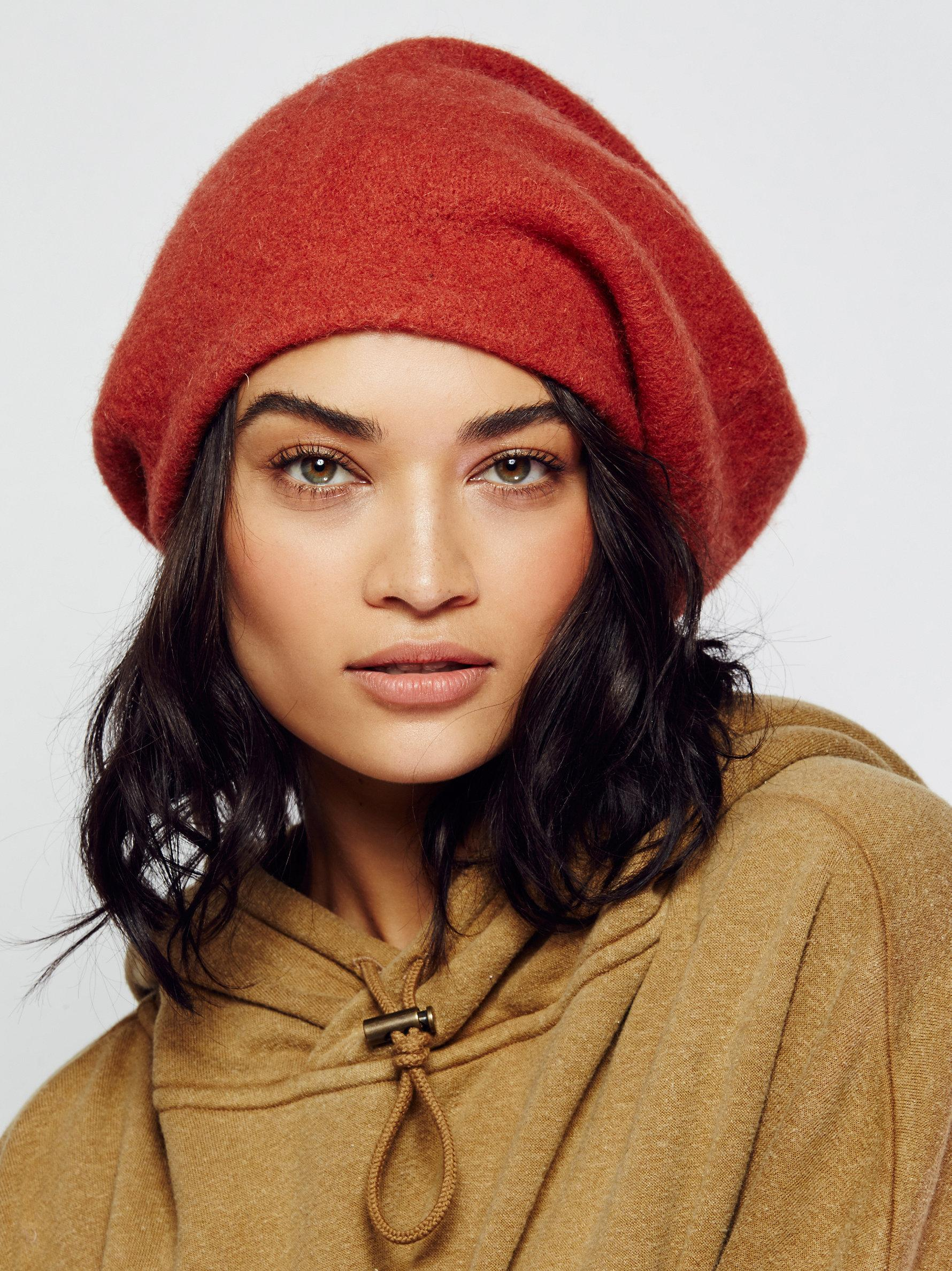Lyst - Free People Bisous Slouchy Beret in Orange d4928d97c53