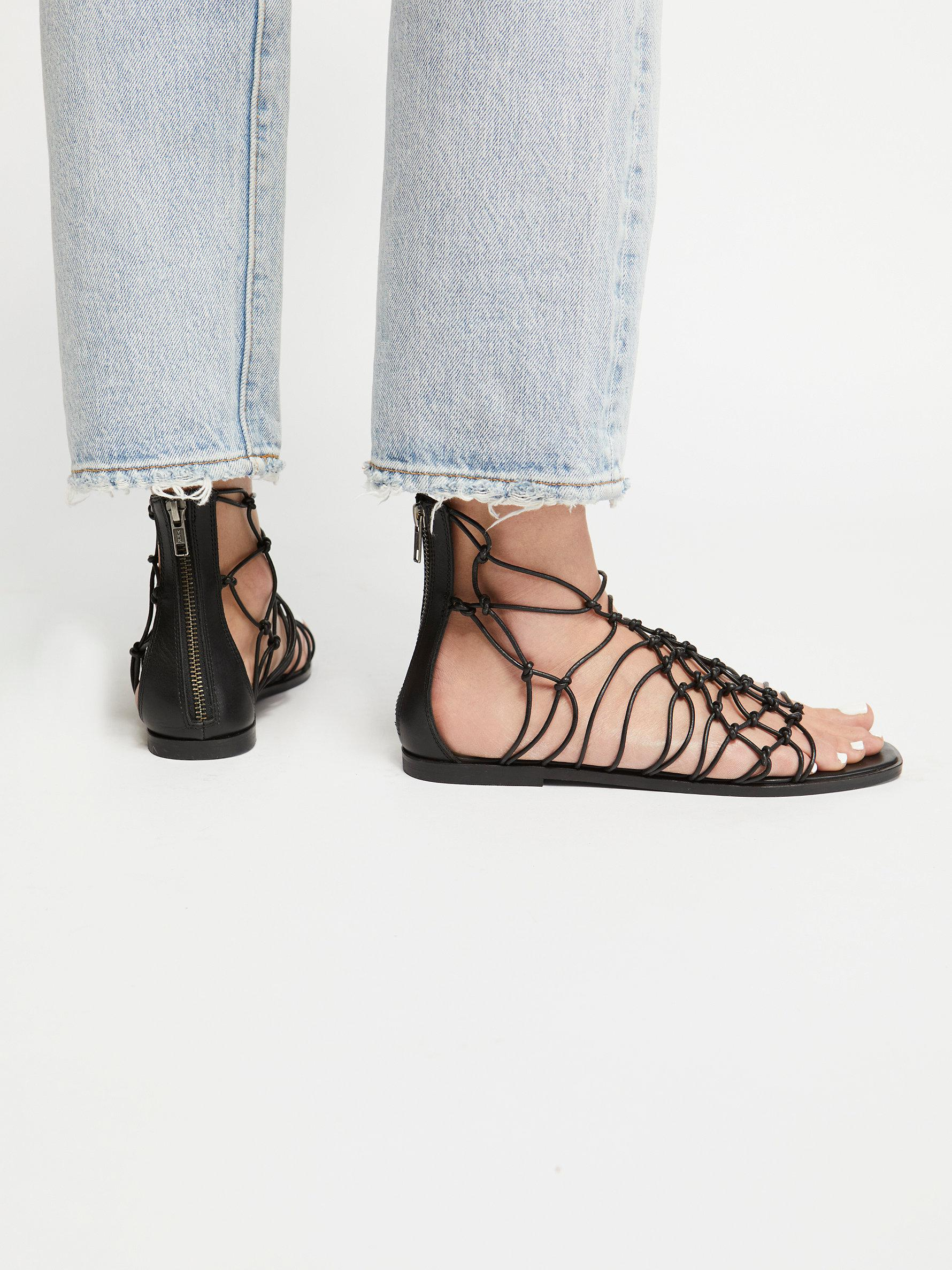 1dab86fcd55 Lyst - Free People Forget Me Knot Sandal in Black