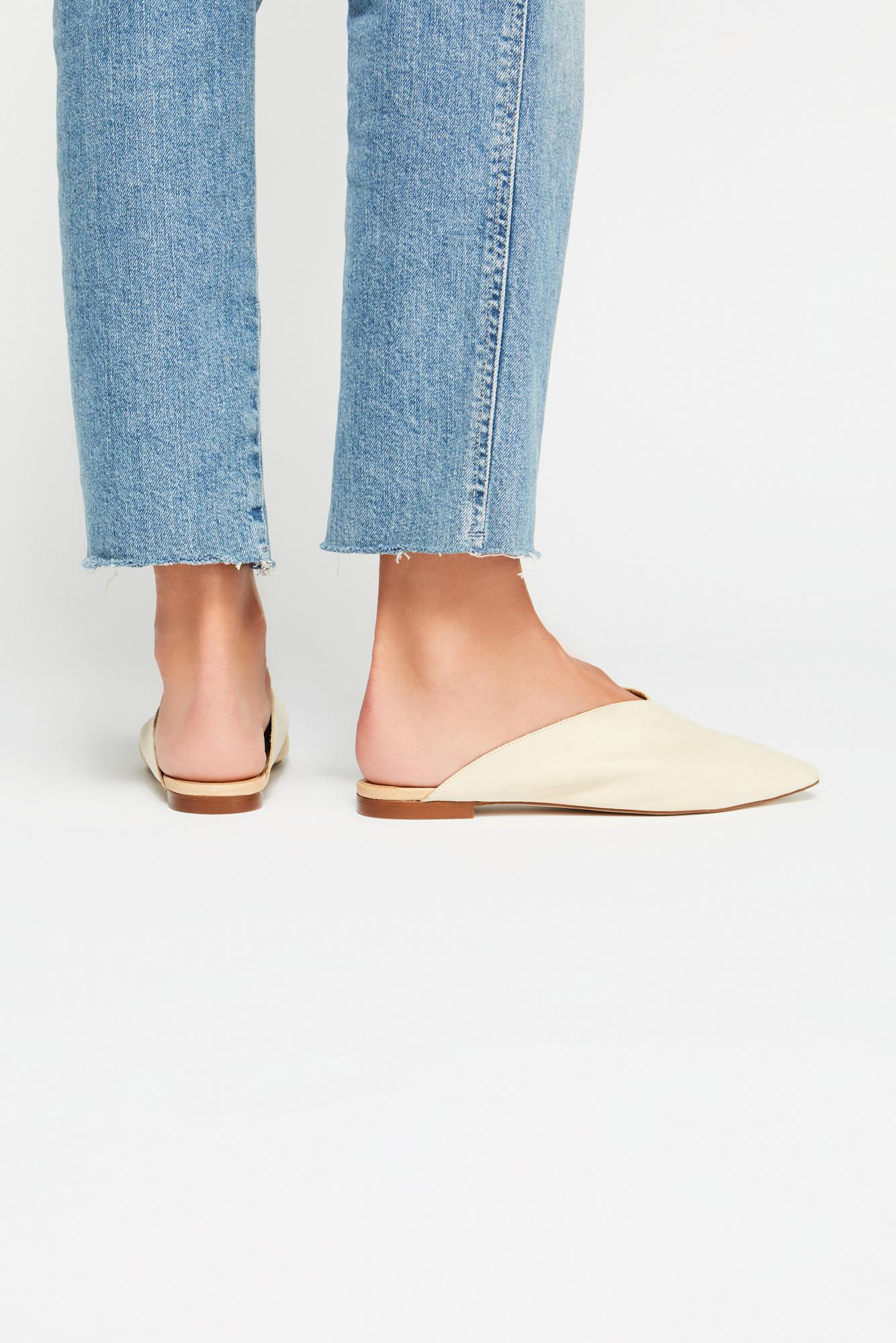 13d21f693fb Free People Callie Flat By Fp Collection in White - Lyst
