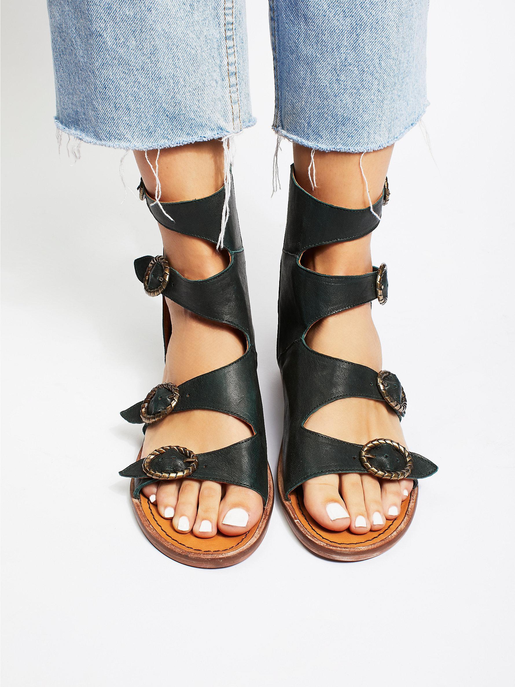 9c1a0ecd1 Lyst - Free People Ludlow Boot Sandal in Black
