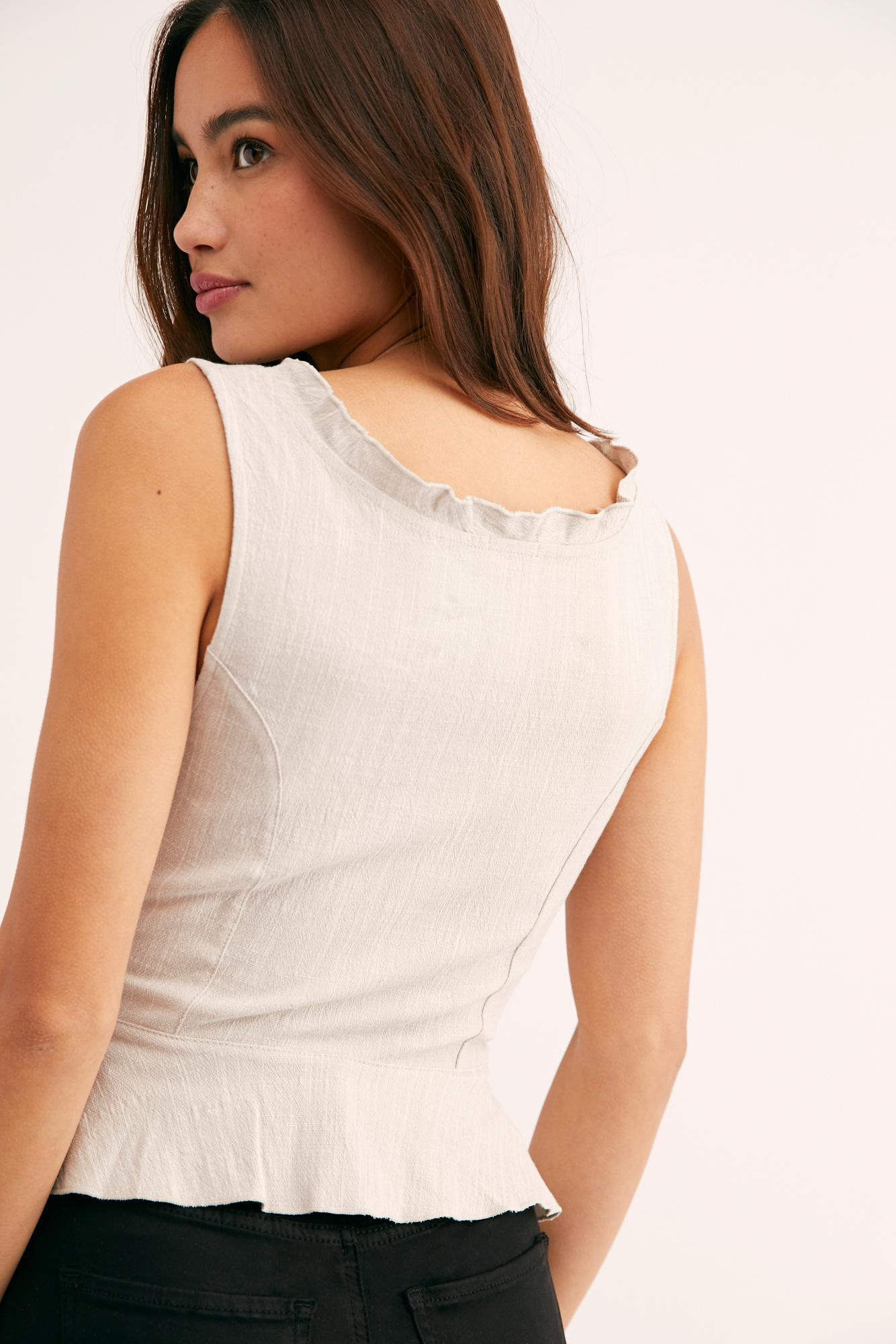 fd62f99c32 Lyst - Free People Jolie Cami in Natural